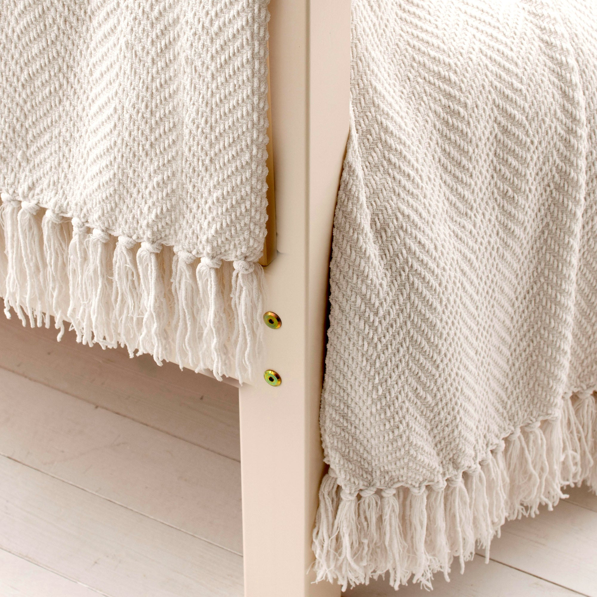 Cream Chevron Throw