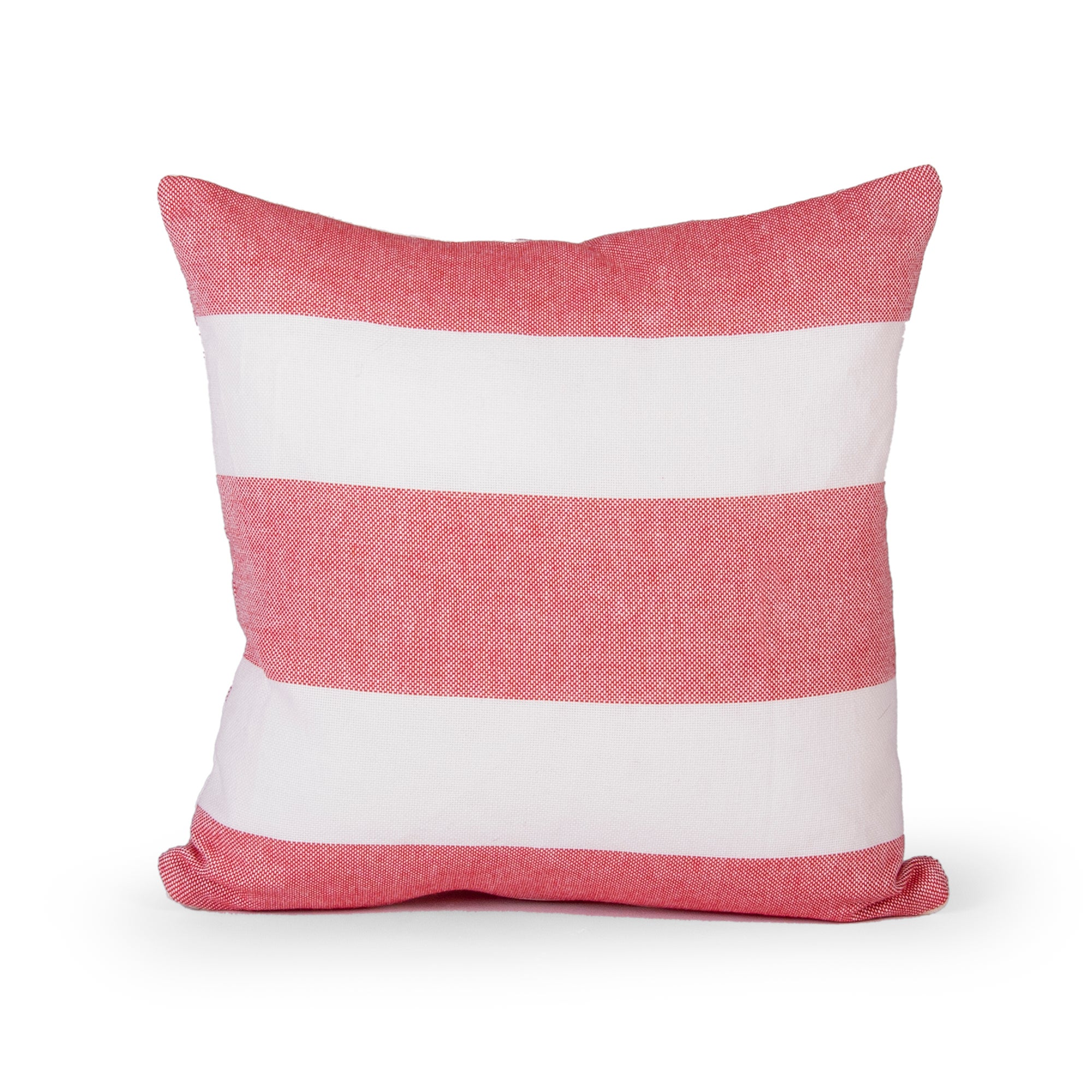 Red Hampton Stripe Cushion