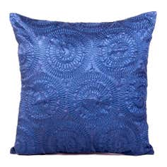 Blue Roulette Cushion
