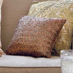 Bronze Bede Sequin Cushion