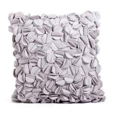 Grey Petal Felt Cushion