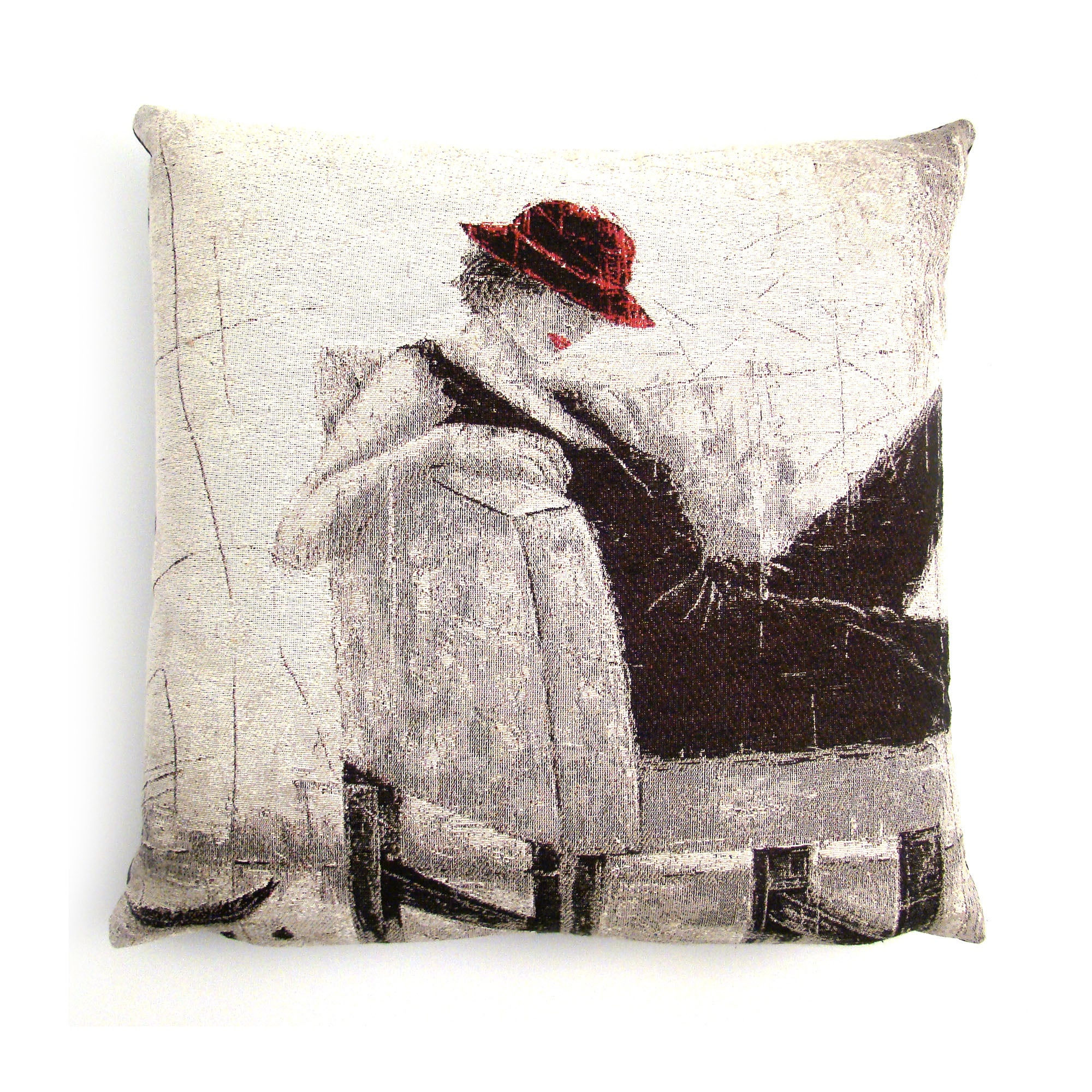 Abstract Lady Cushion Cover