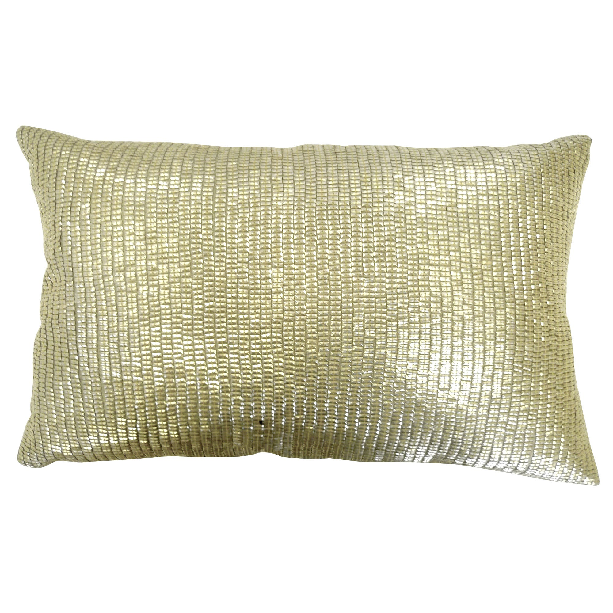Gold Sequin Square Cushion
