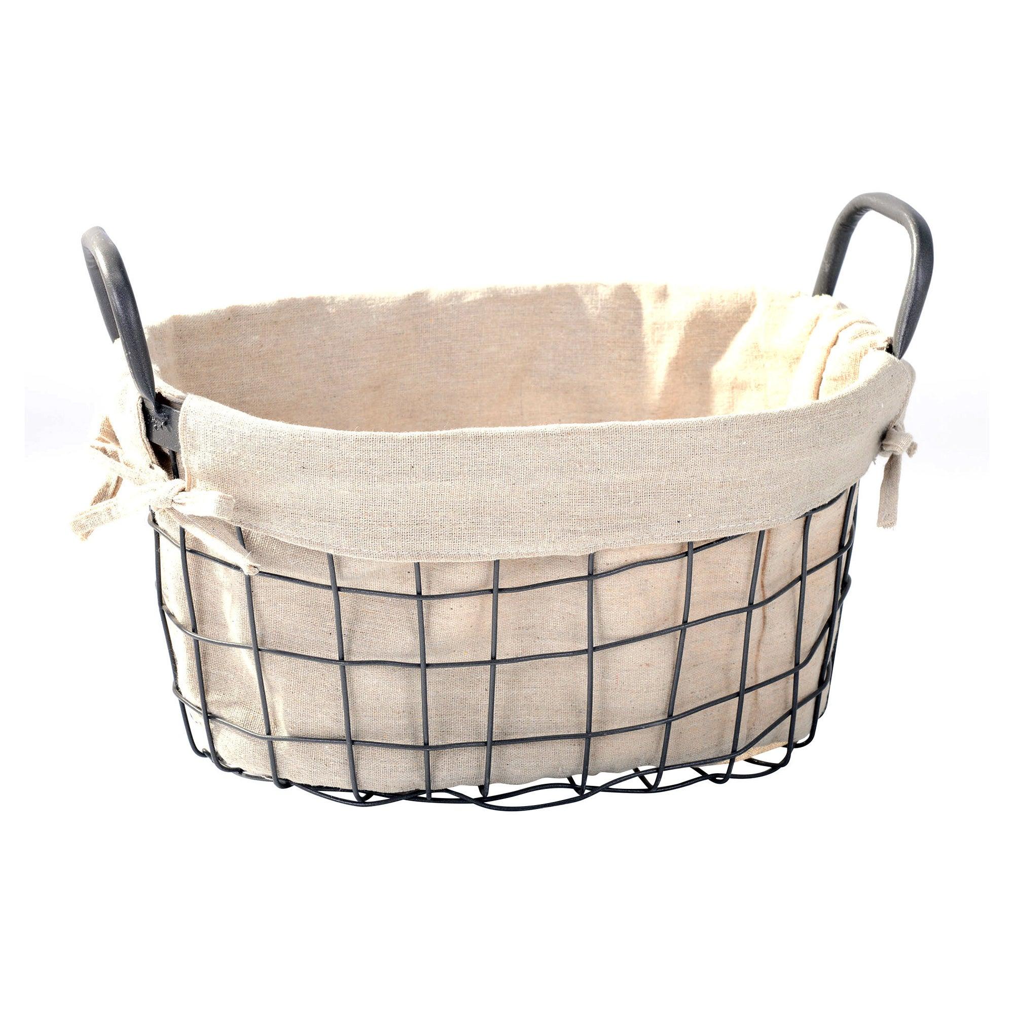 Oval Wire Storage Basket