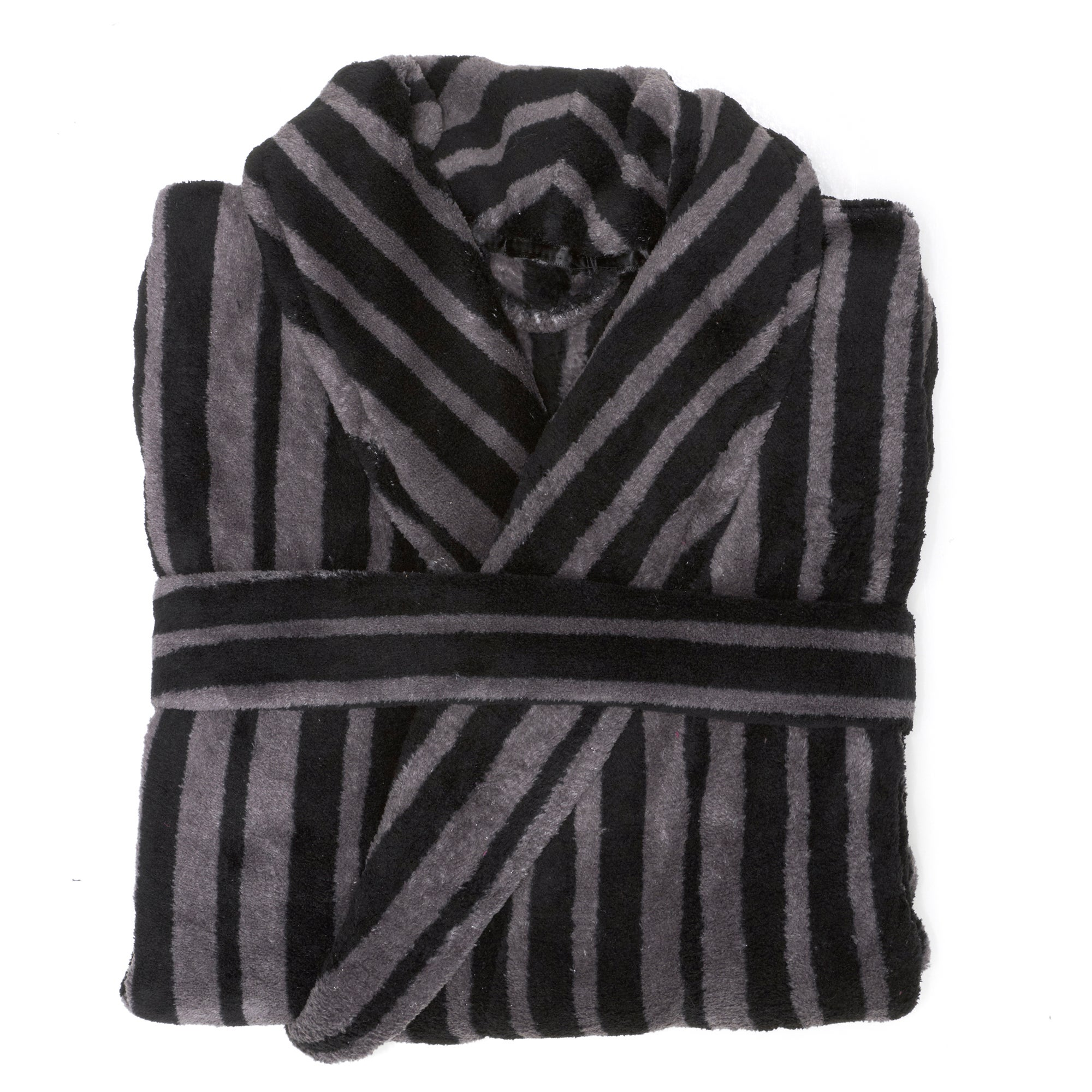 Mens Stripe Bathrobe
