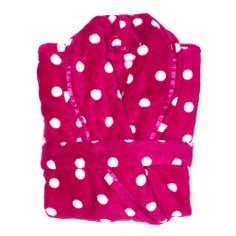 Ladies Polka Dot Bathrobe