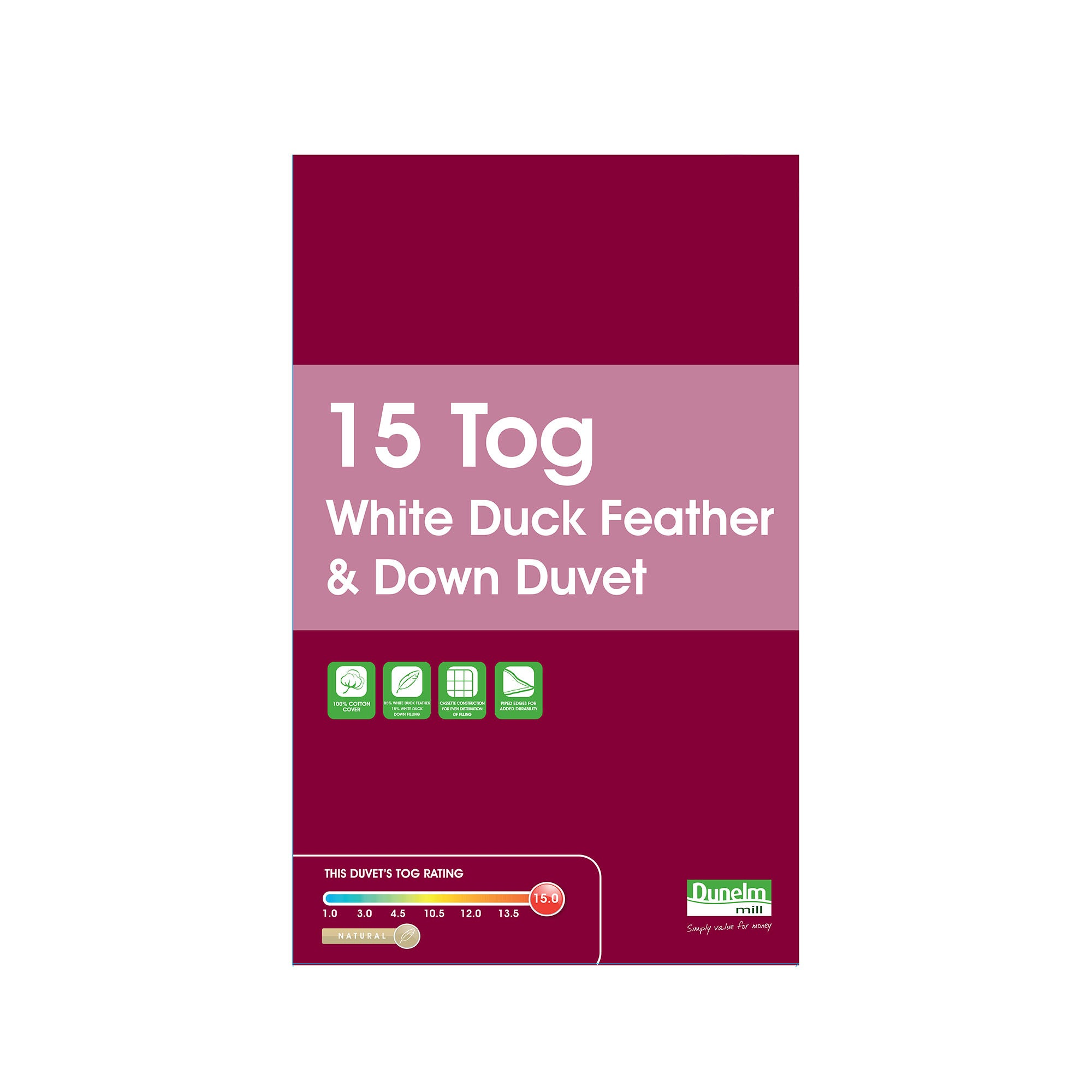 Duck Feather and Down 15 Tog Duvet
