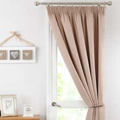 Biscuit Solar Thermal Pencil Pleat Door Curtain