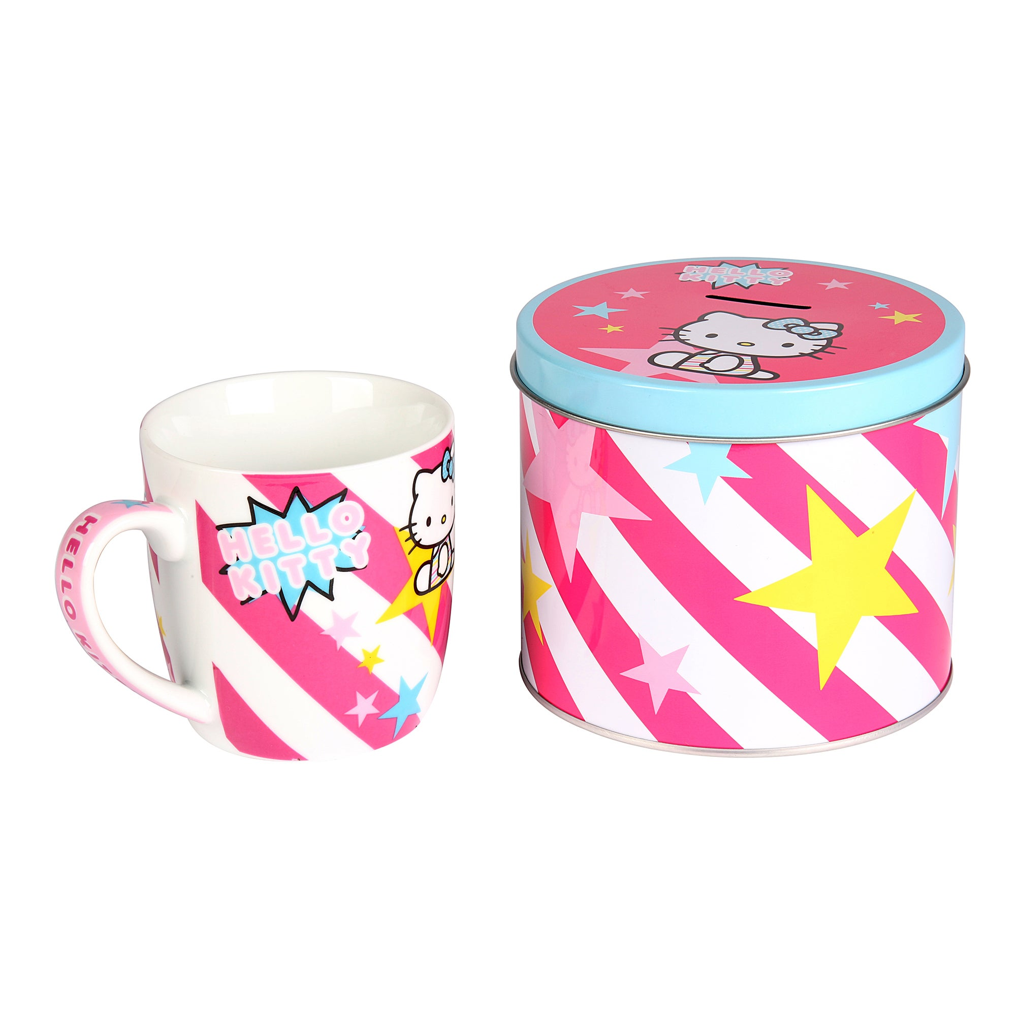Kids Hello Kitty Mug In Money Box