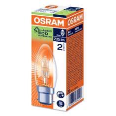 Osram Halogen Classic Eco Ss BC Candle 20 Watt Bulb