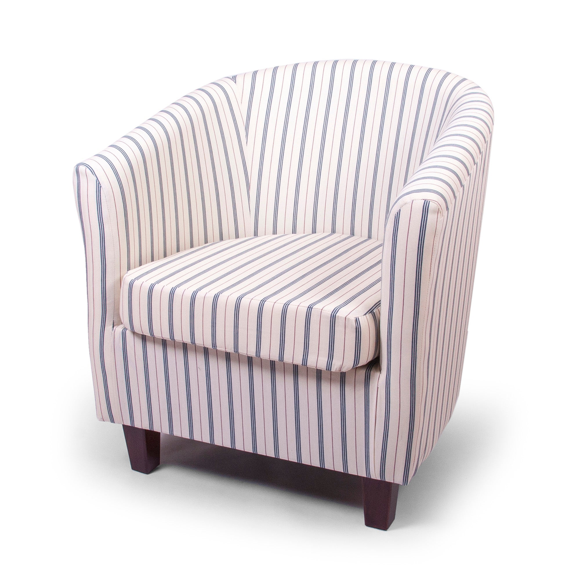 Ticking Stripe Tub Chair