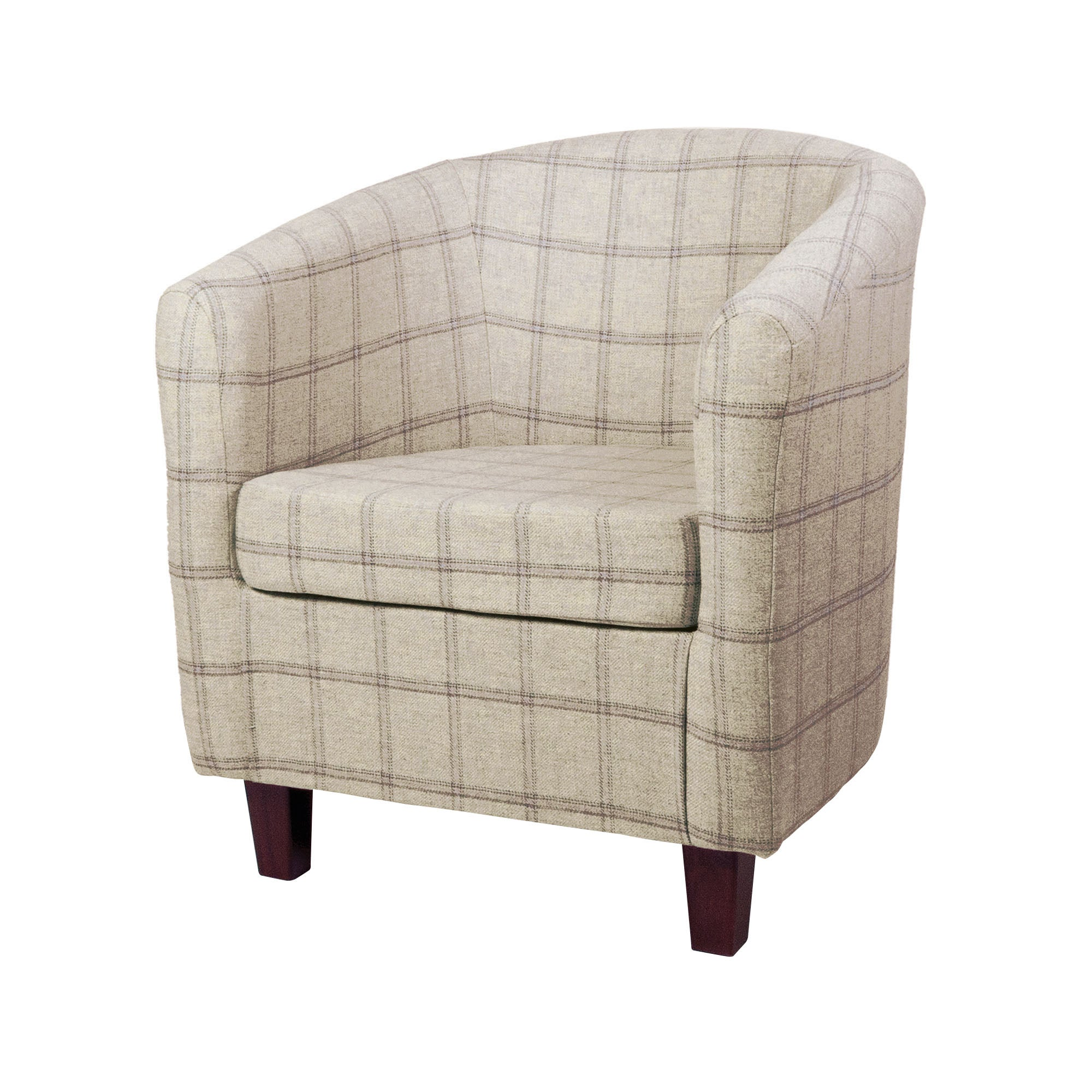 Wool Check Tub Chair