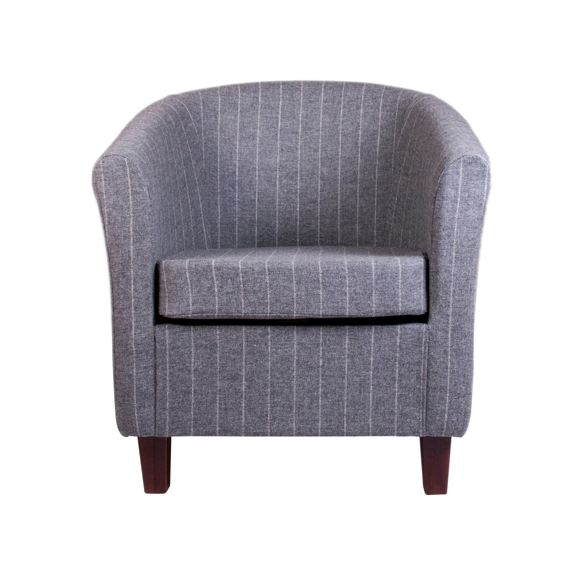 Wool Stripe Tub Chair