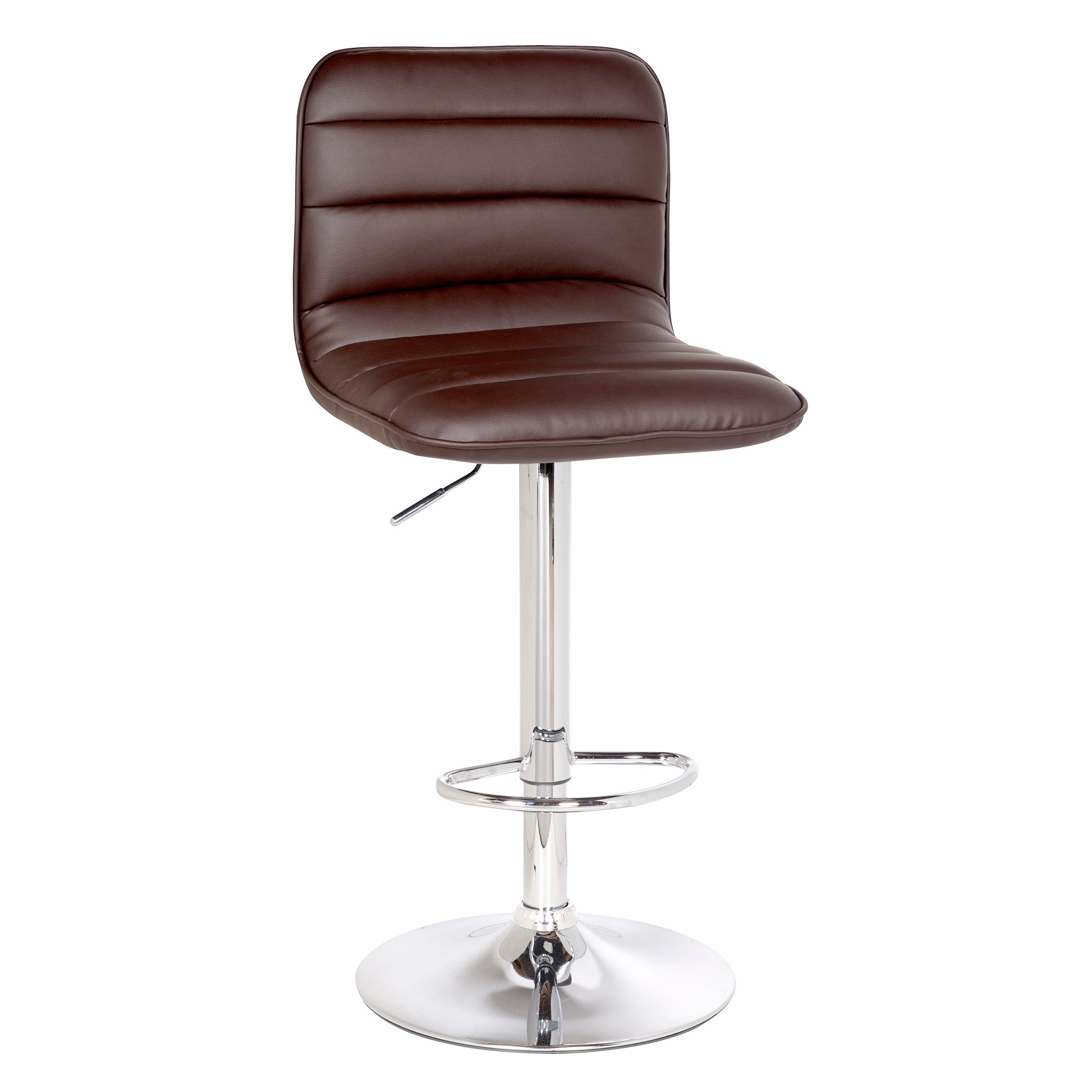 Como Upholstered Gas Lift Bar Stool