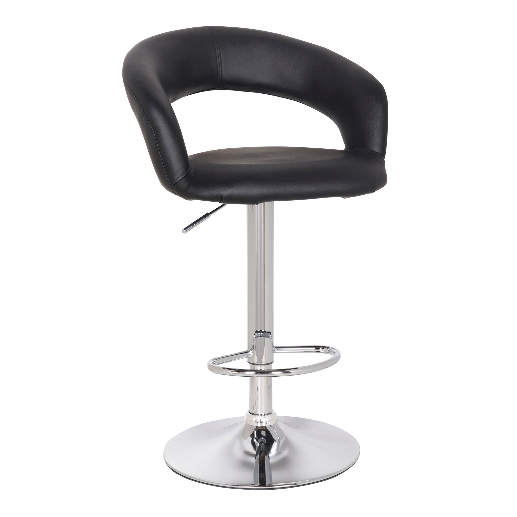 Lunar Upholstered Gas Lift Bar Stool