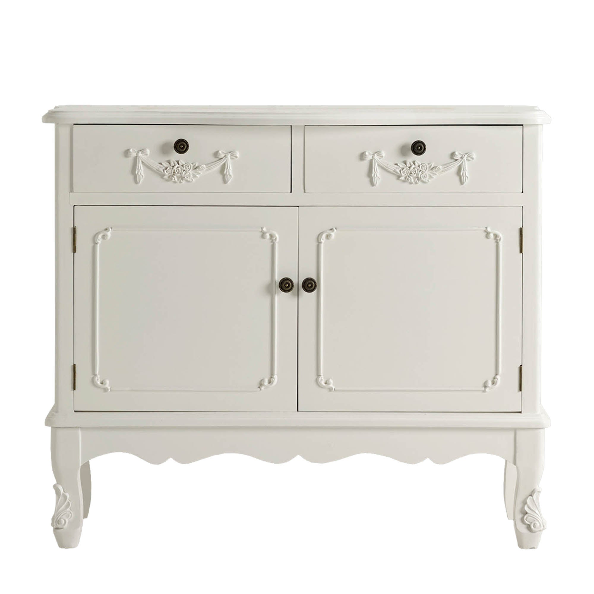 Toulouse White 2 Drawer Sideboard