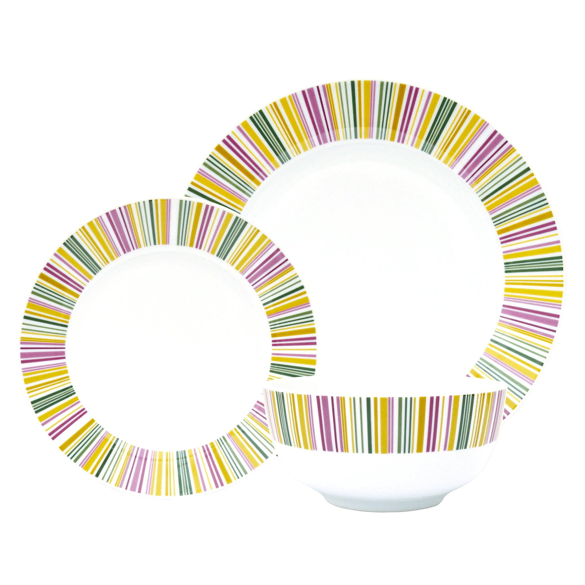 Revival Stripe 12 Piece Dinner Set