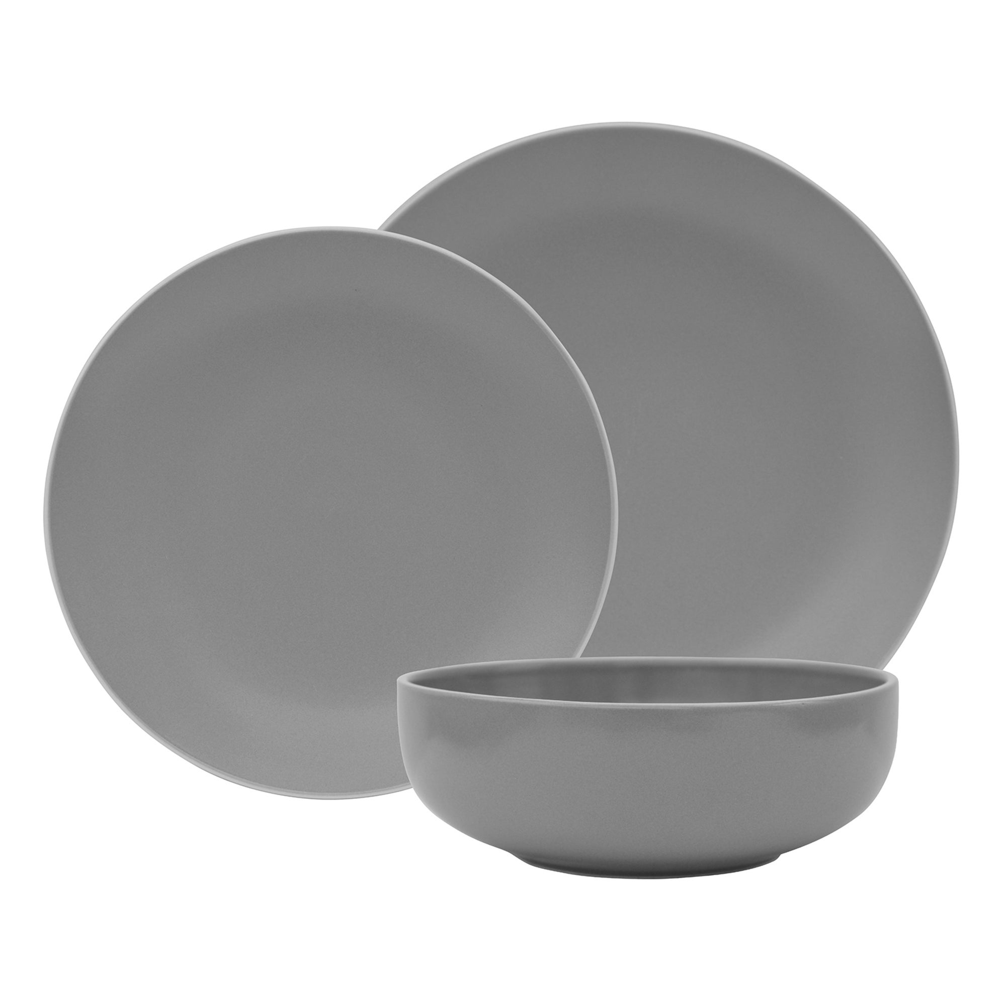 Monaco Grey 12 Piece Dinner Set