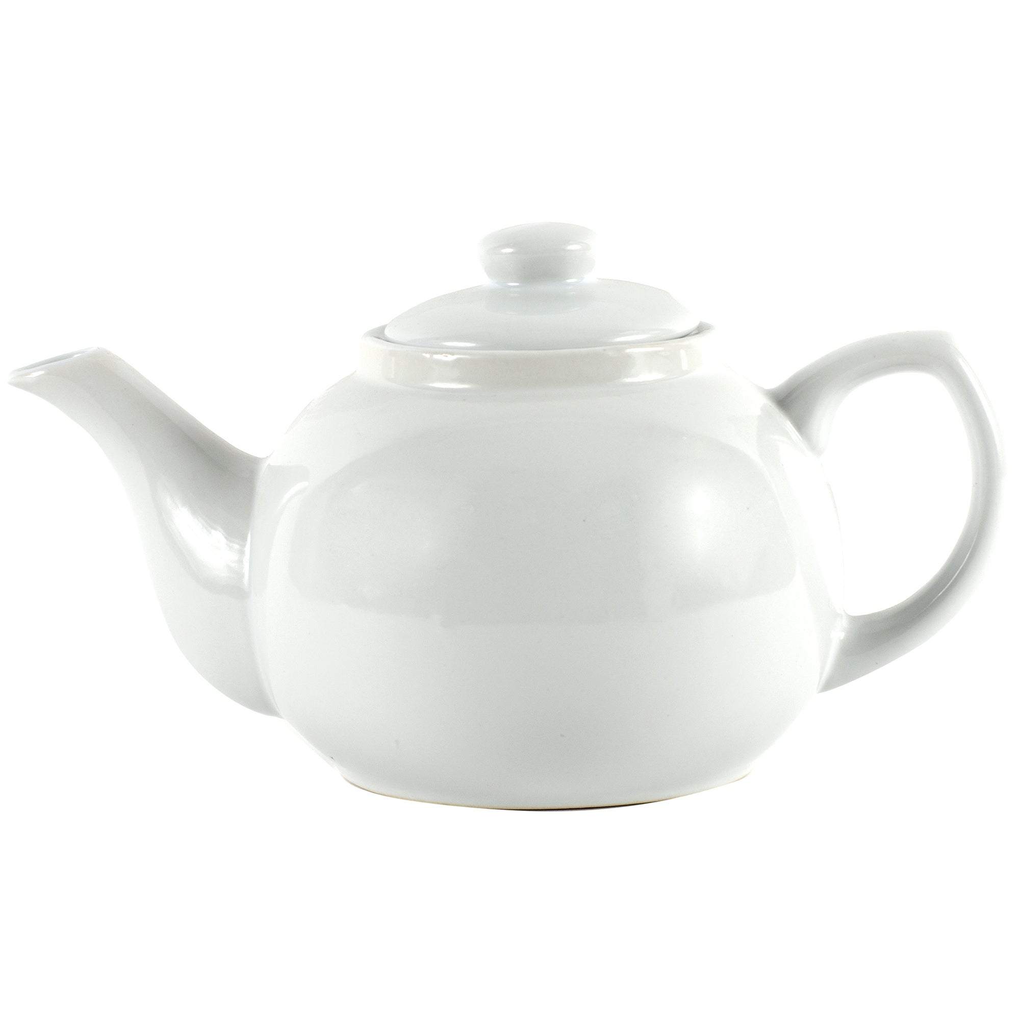 White Six Cup Teapot