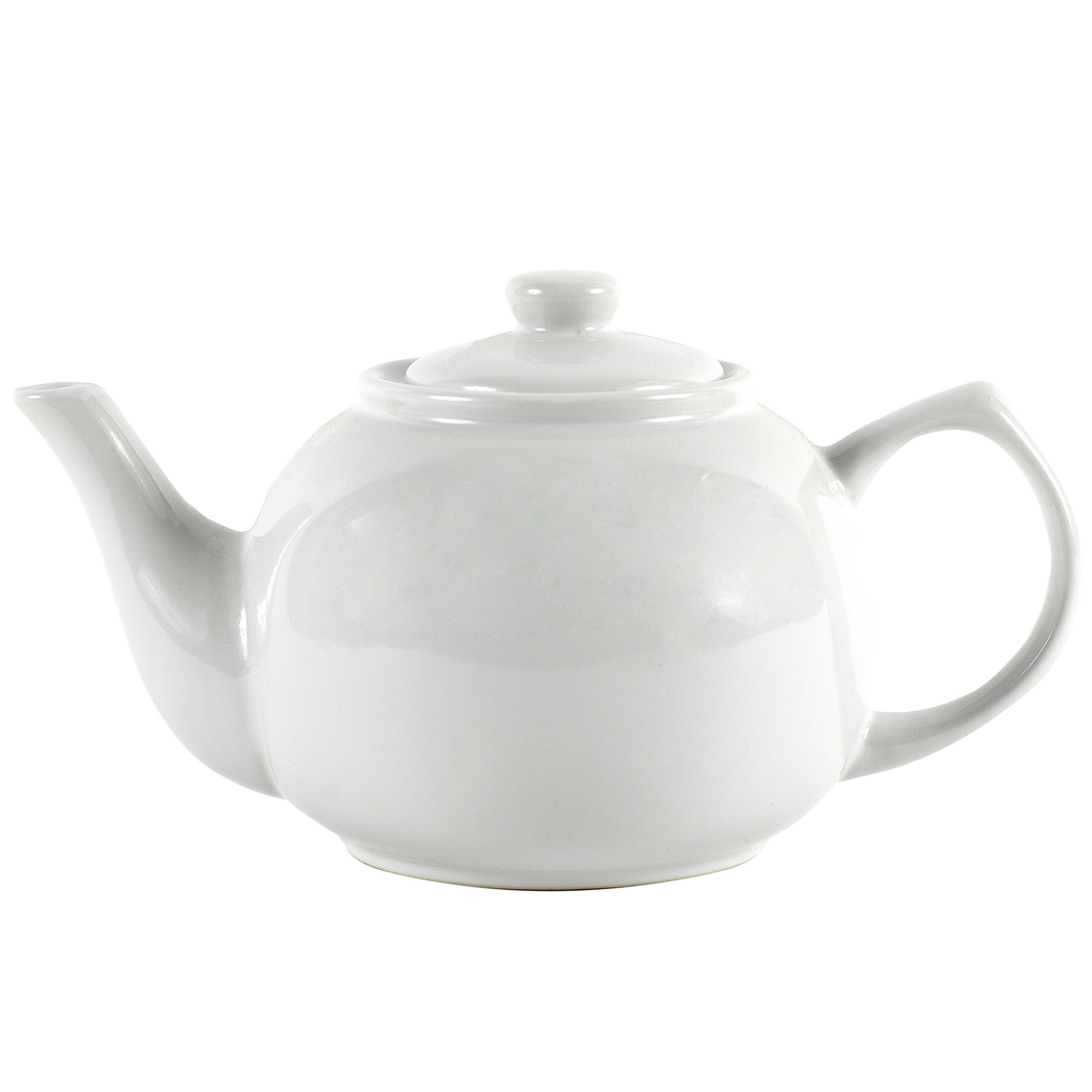 White Ten Cup Teapot