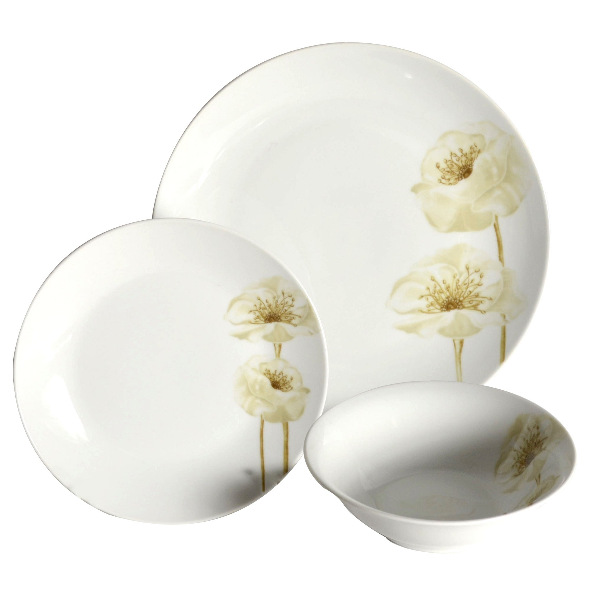 Natural Flower Collection 12 Piece Dinner Set