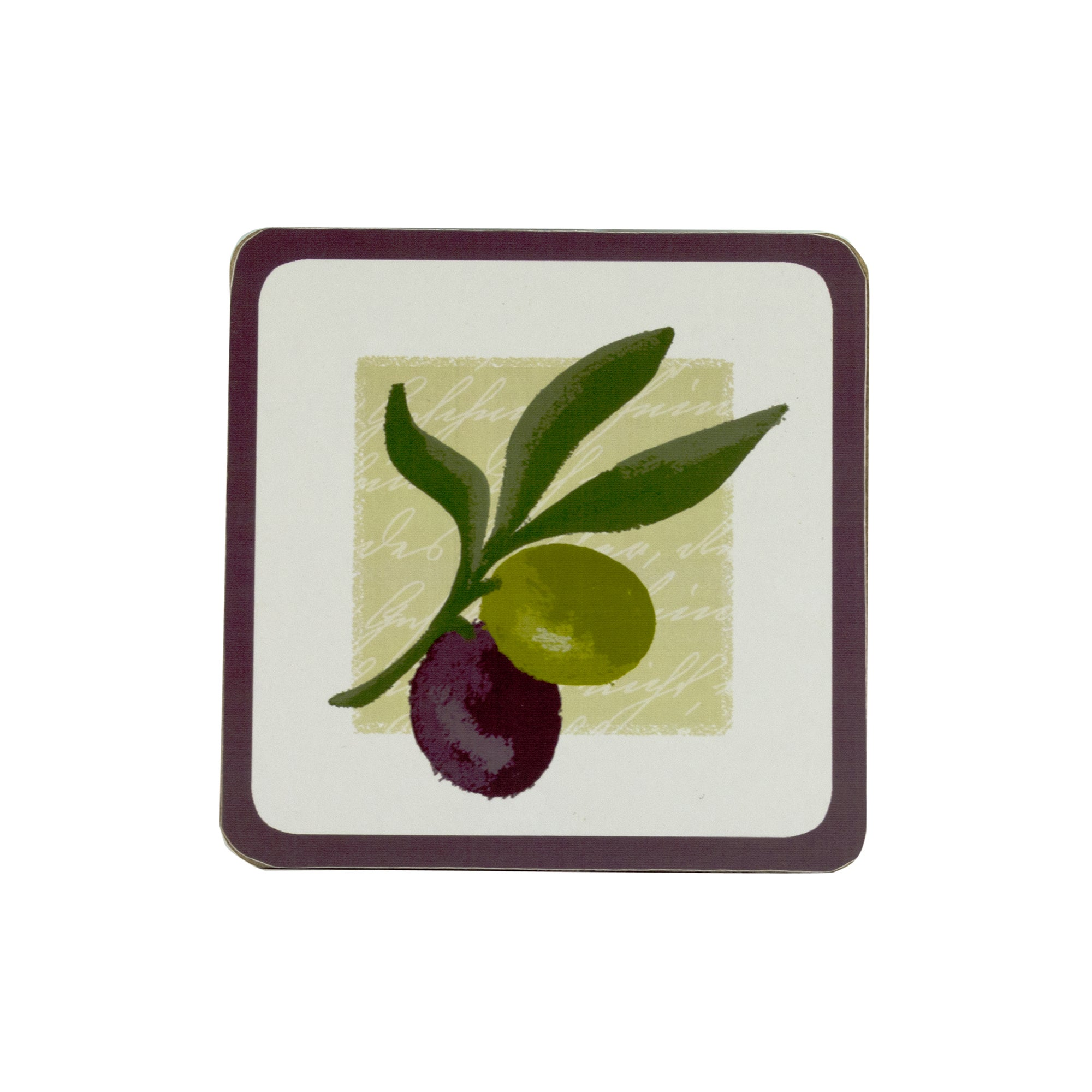 Olive Collection Pack of 4 Coasters