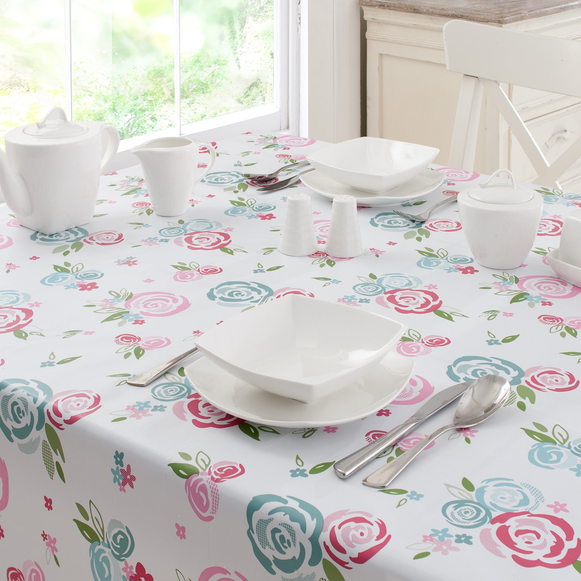 Candy Rose Collection PVC Tablecloth