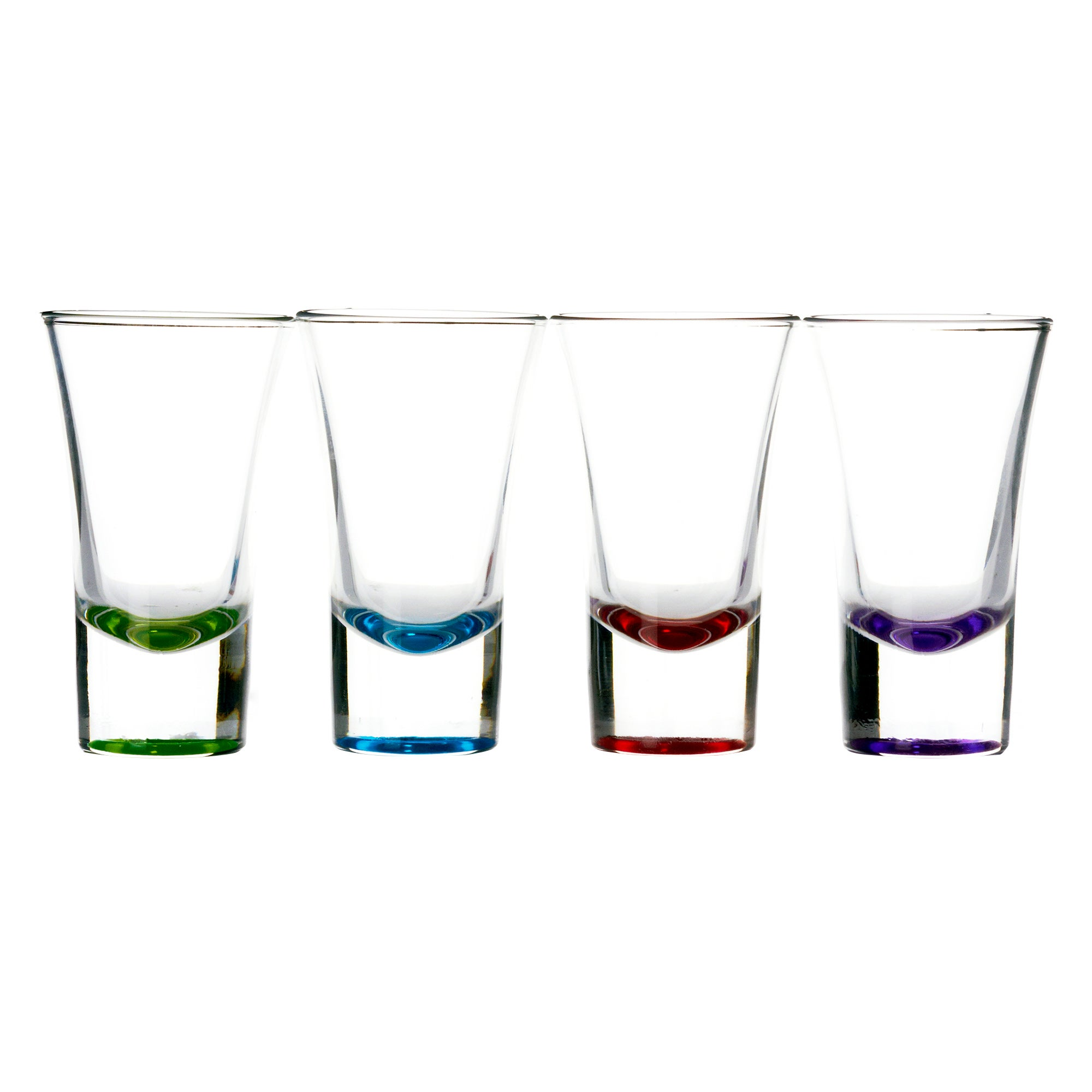 Sprayed Base Set of 4 Shot Glasses