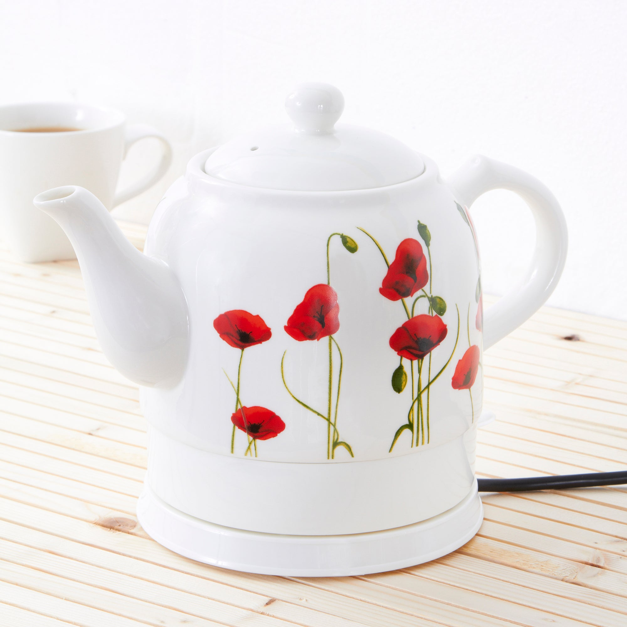 Poppy Collection Ceramic Kettle