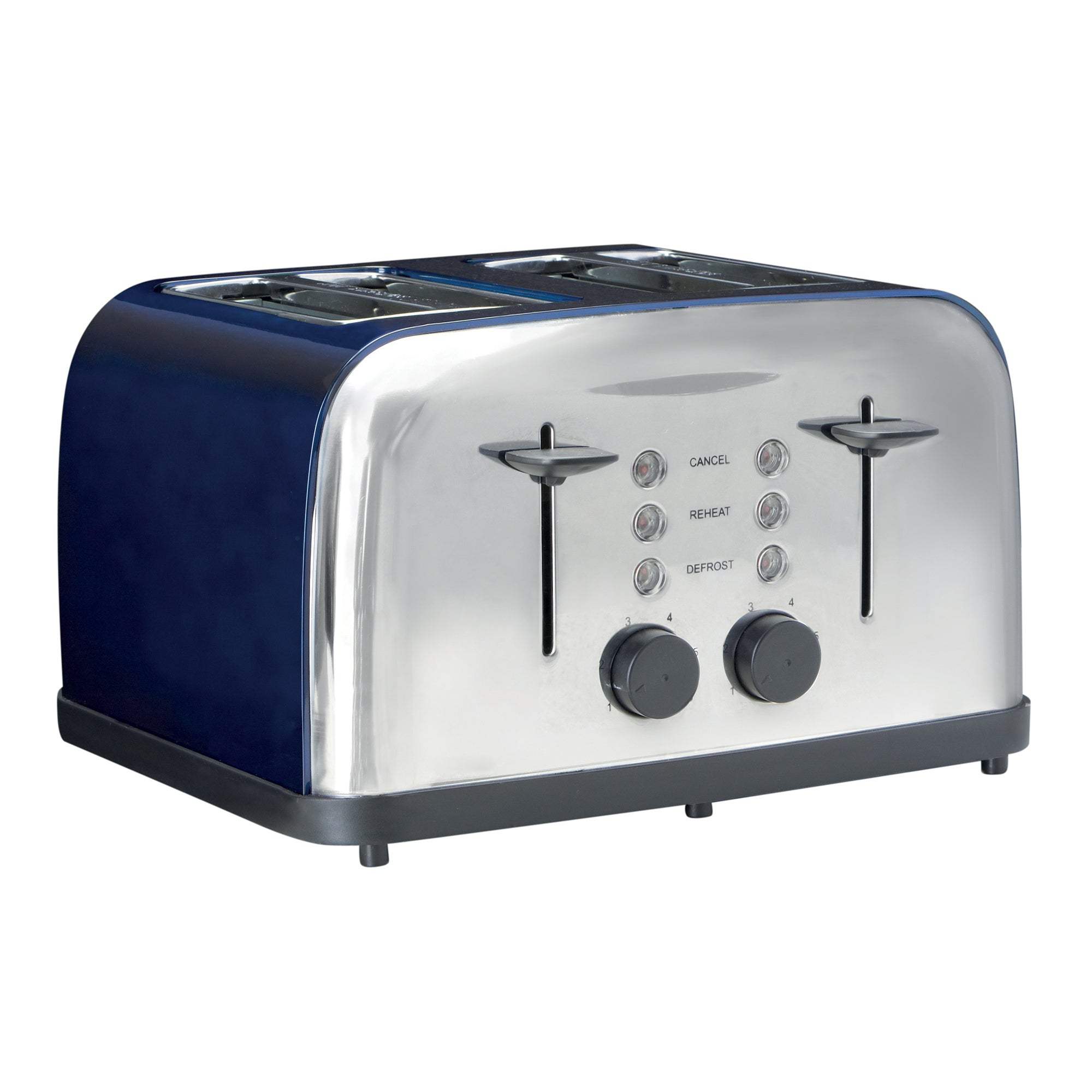 Hampton Blue Vintage 4 Slice Toaster