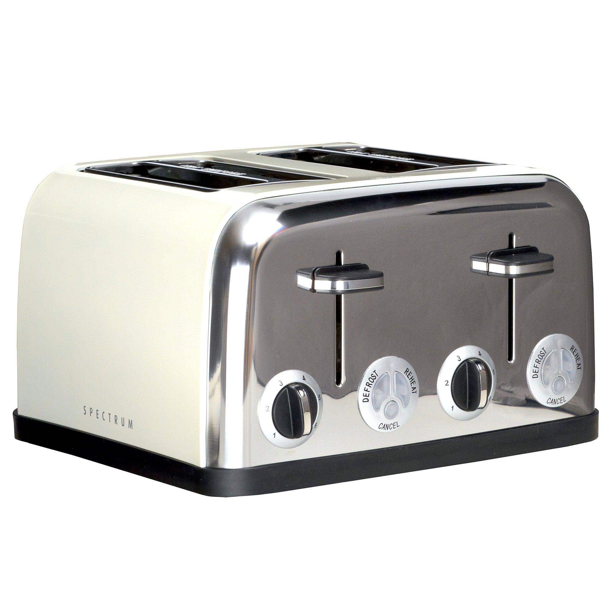 Cream Spectrum 4 Slice Toaster