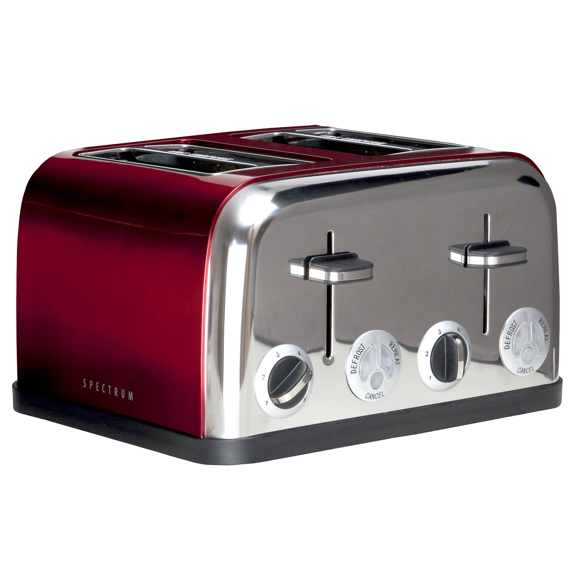 Red Spectrum 4 Slice Toaster