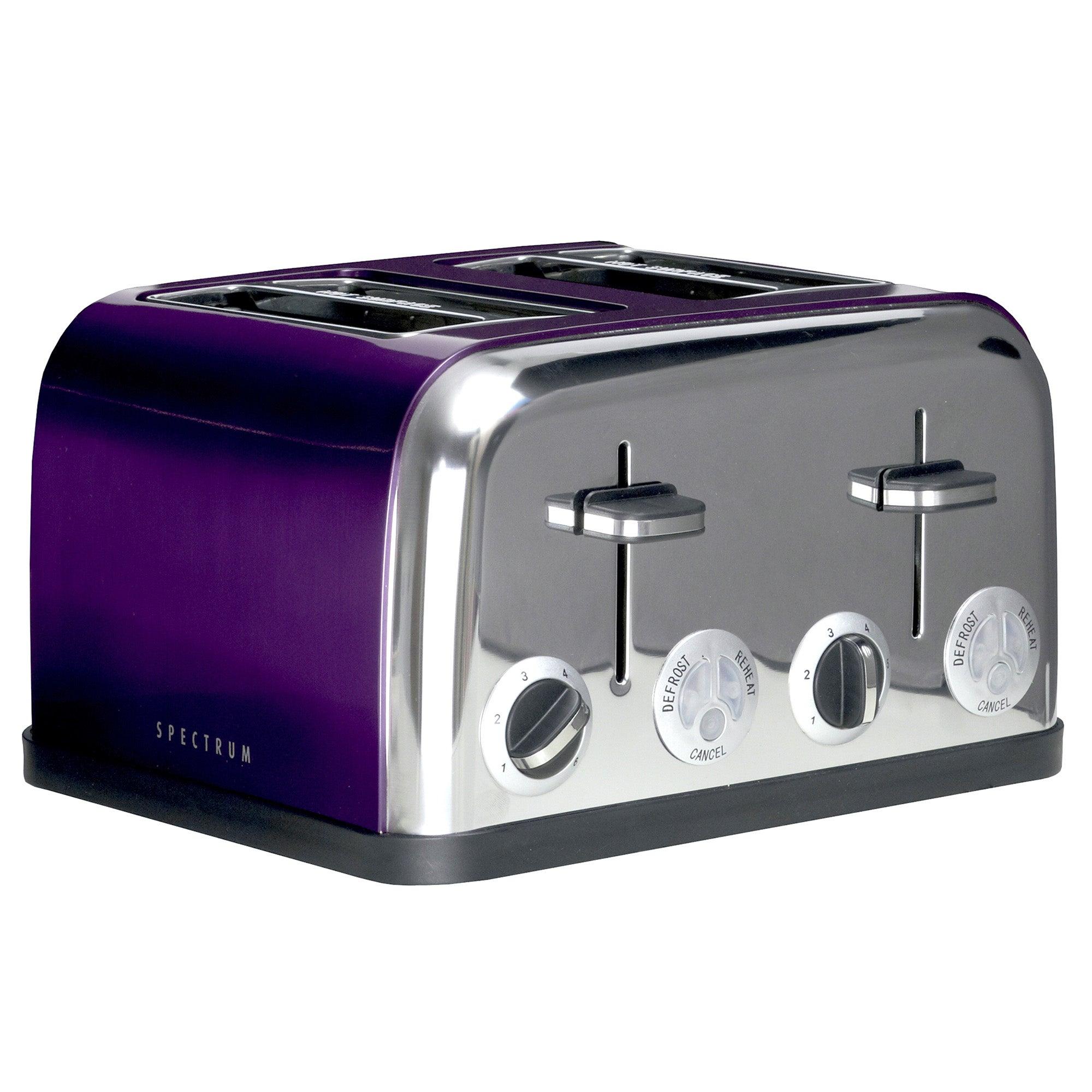 Purple Spectrum 4 Slice Toaster