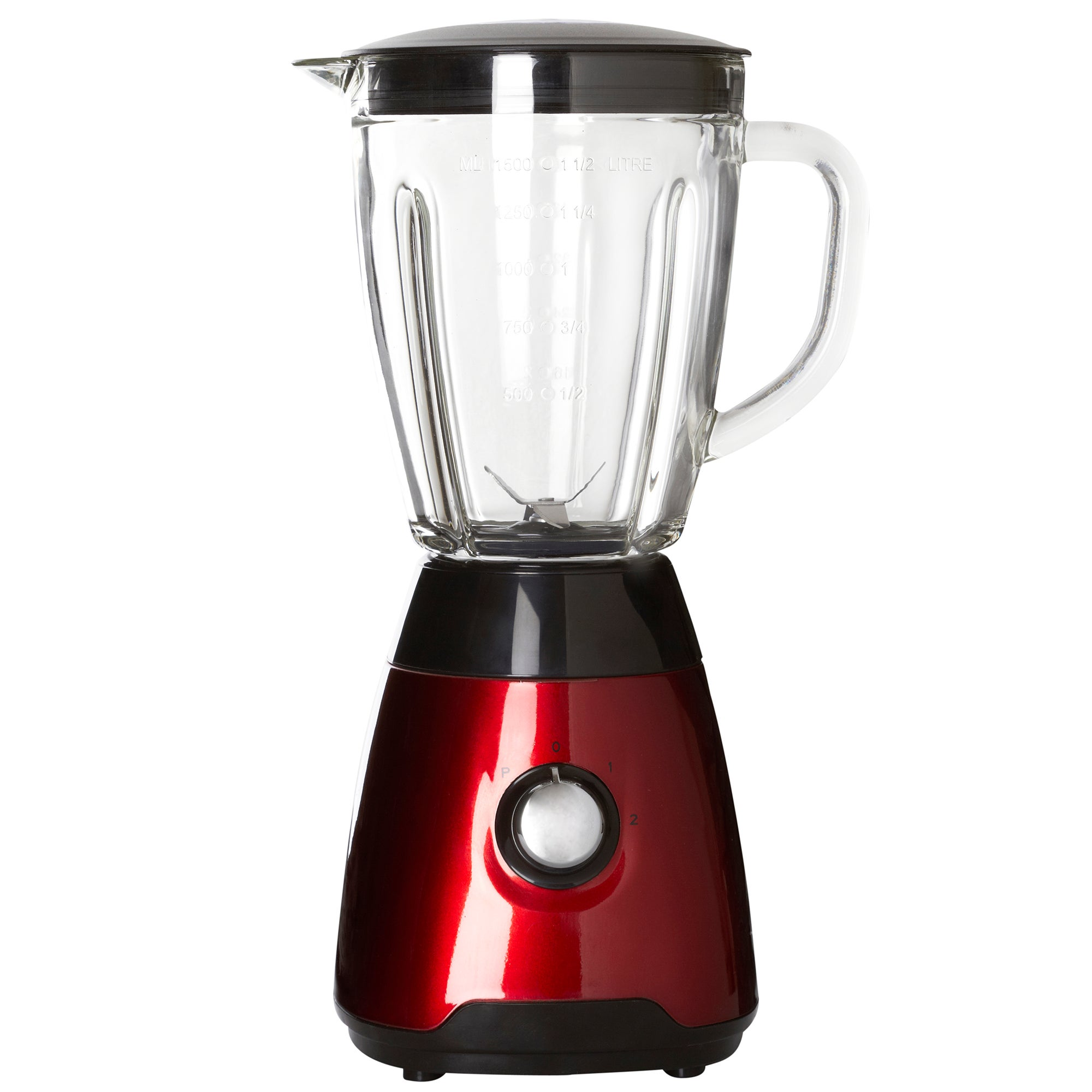 Spectrum Red Collection Glass Jug Blender