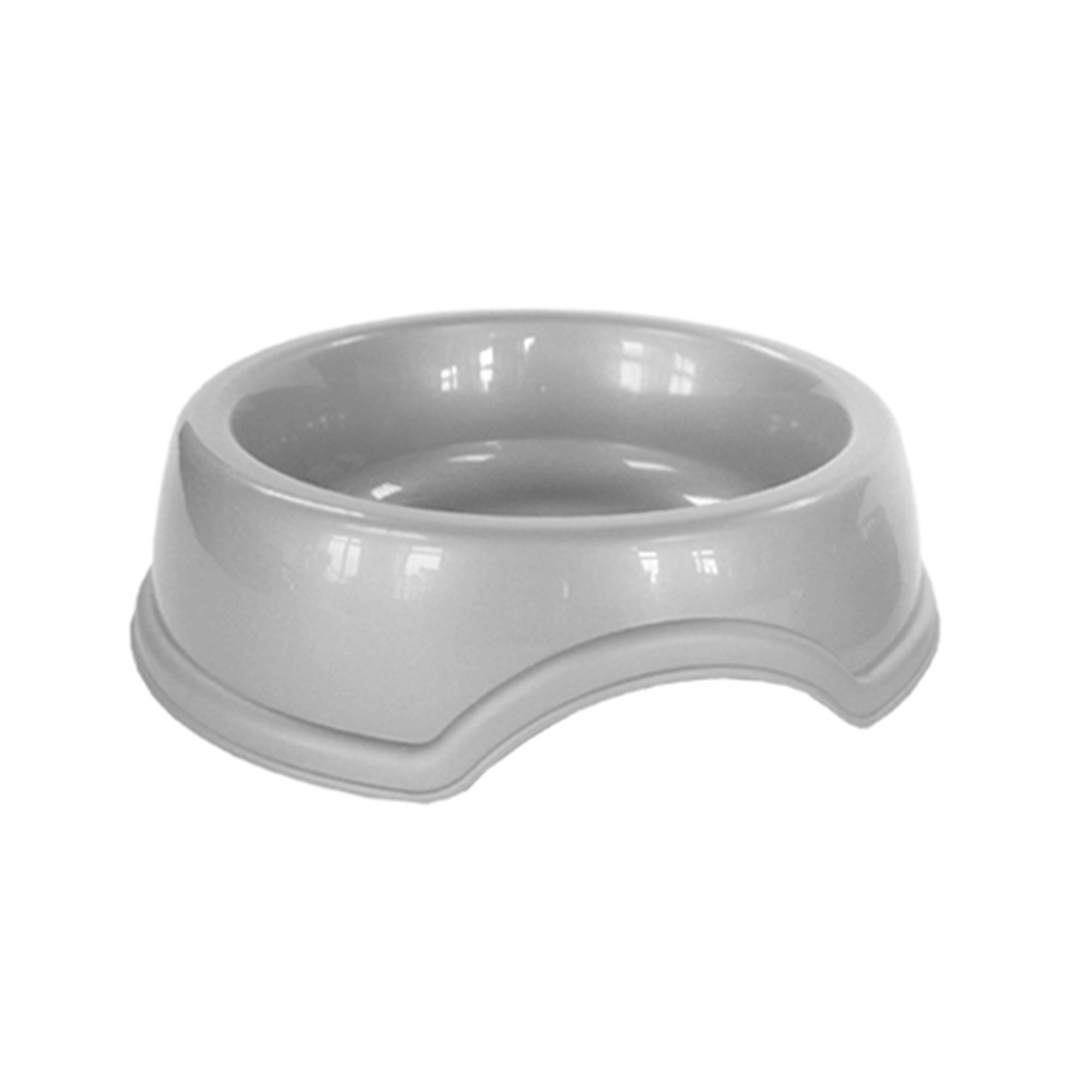 Simply Plastic Silver Pet Bowl