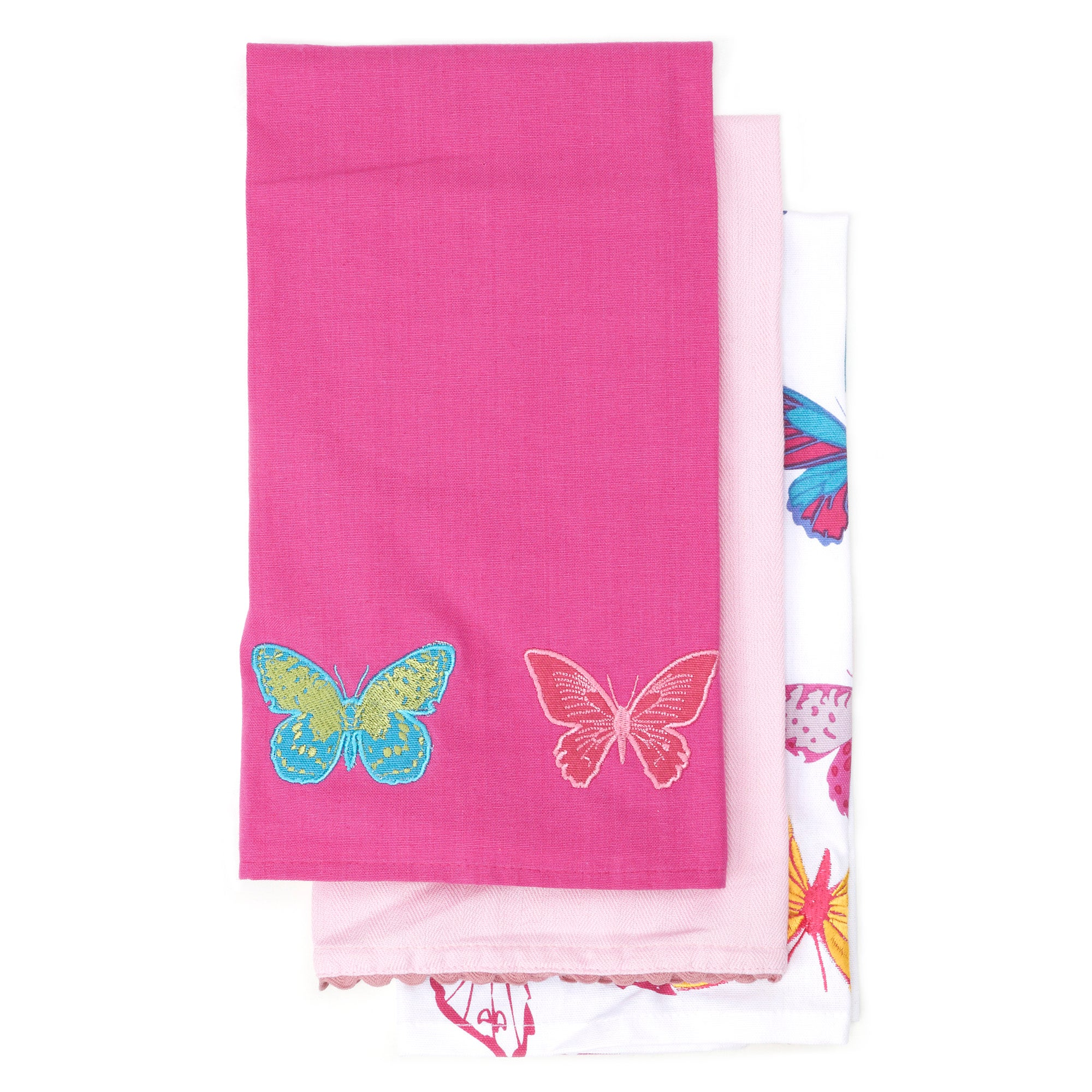 Butterfly Pack of 3 Tea Towels