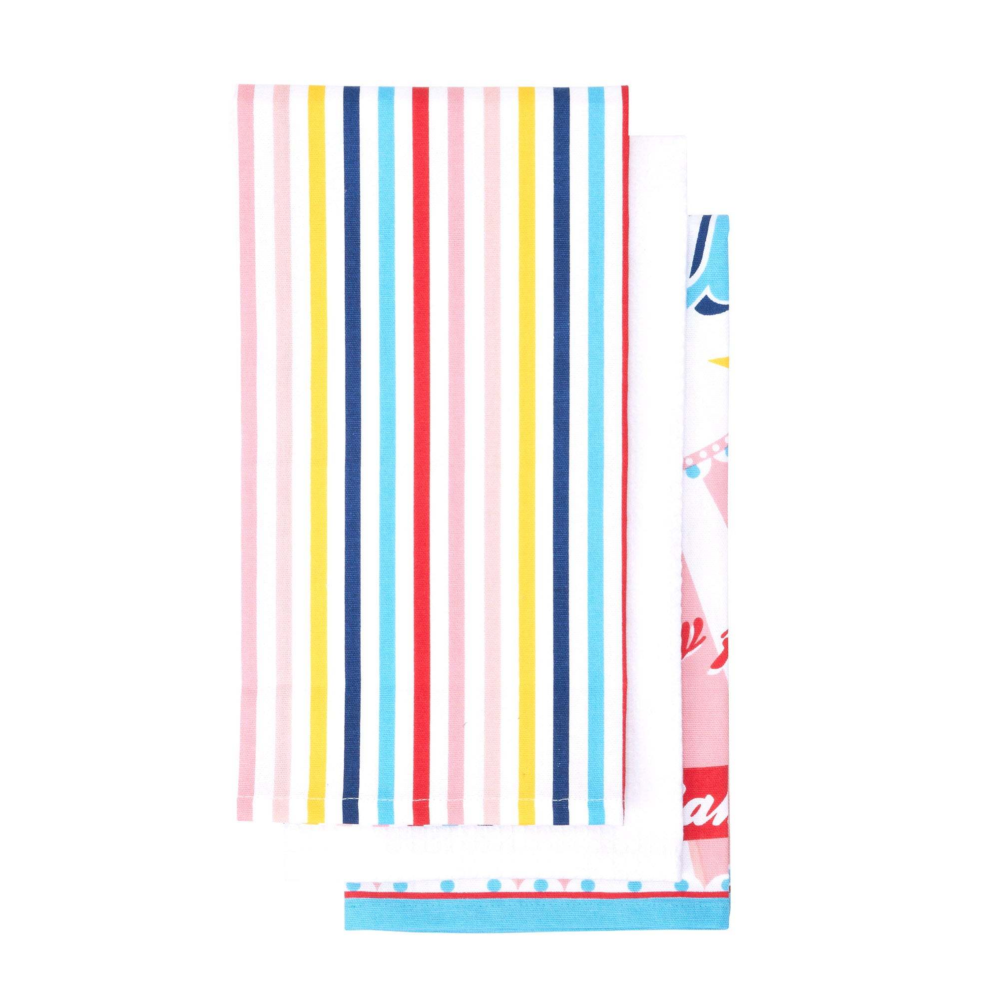 Retro Ice Cream Pack of 3 Tea Towels