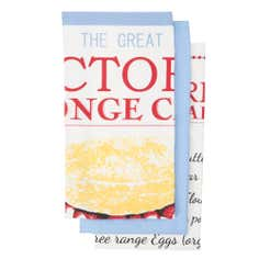 Retro Baking Pack of 3 Tea Towels