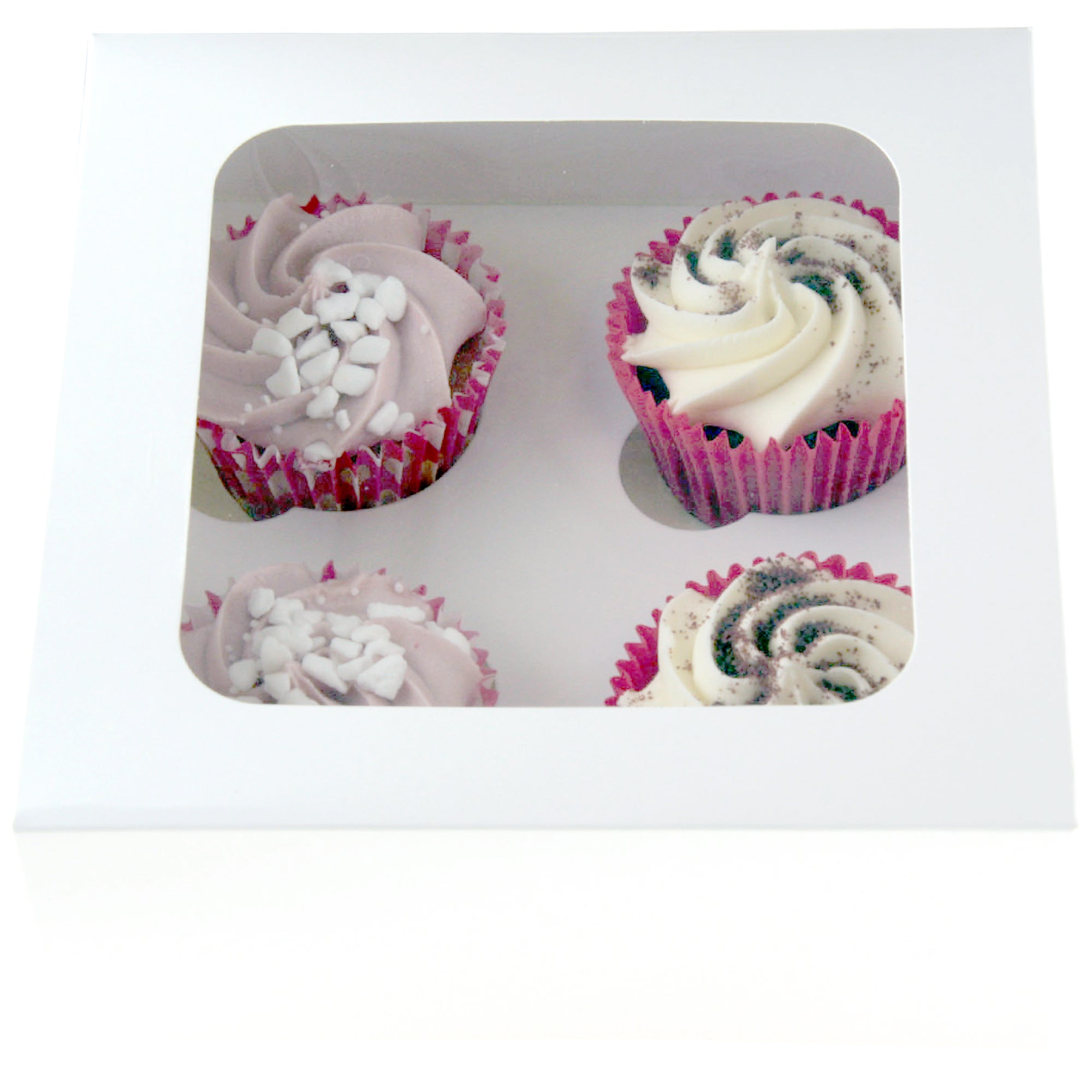 White Cake Box With Cupcake Slots