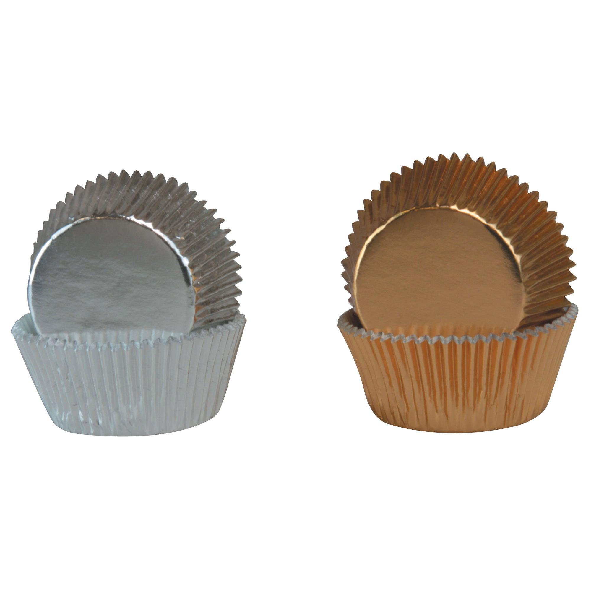 Pack of 36 Metallic Cupcake Cases