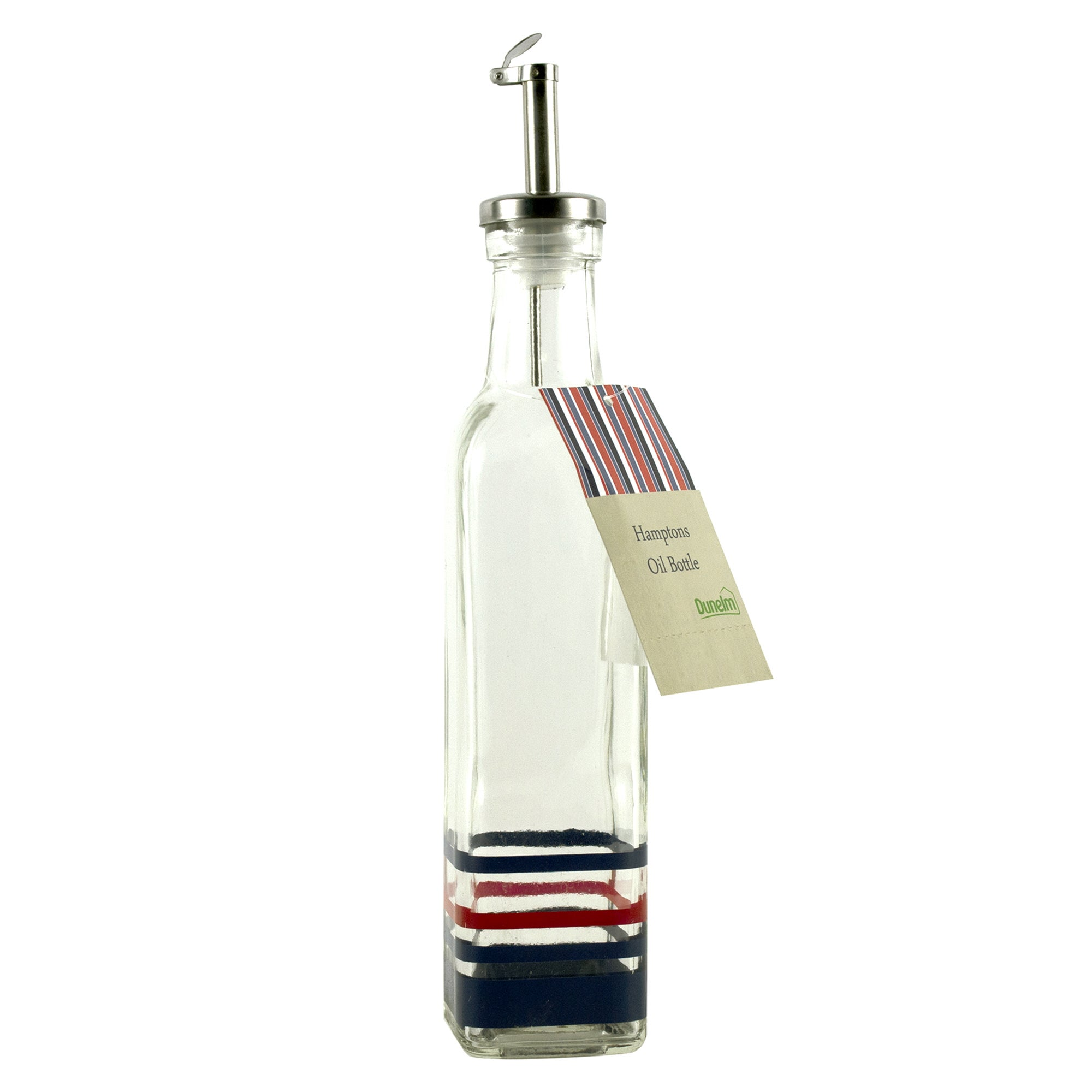 Hamptons Blue Stripe Clip Top Oil Bottle