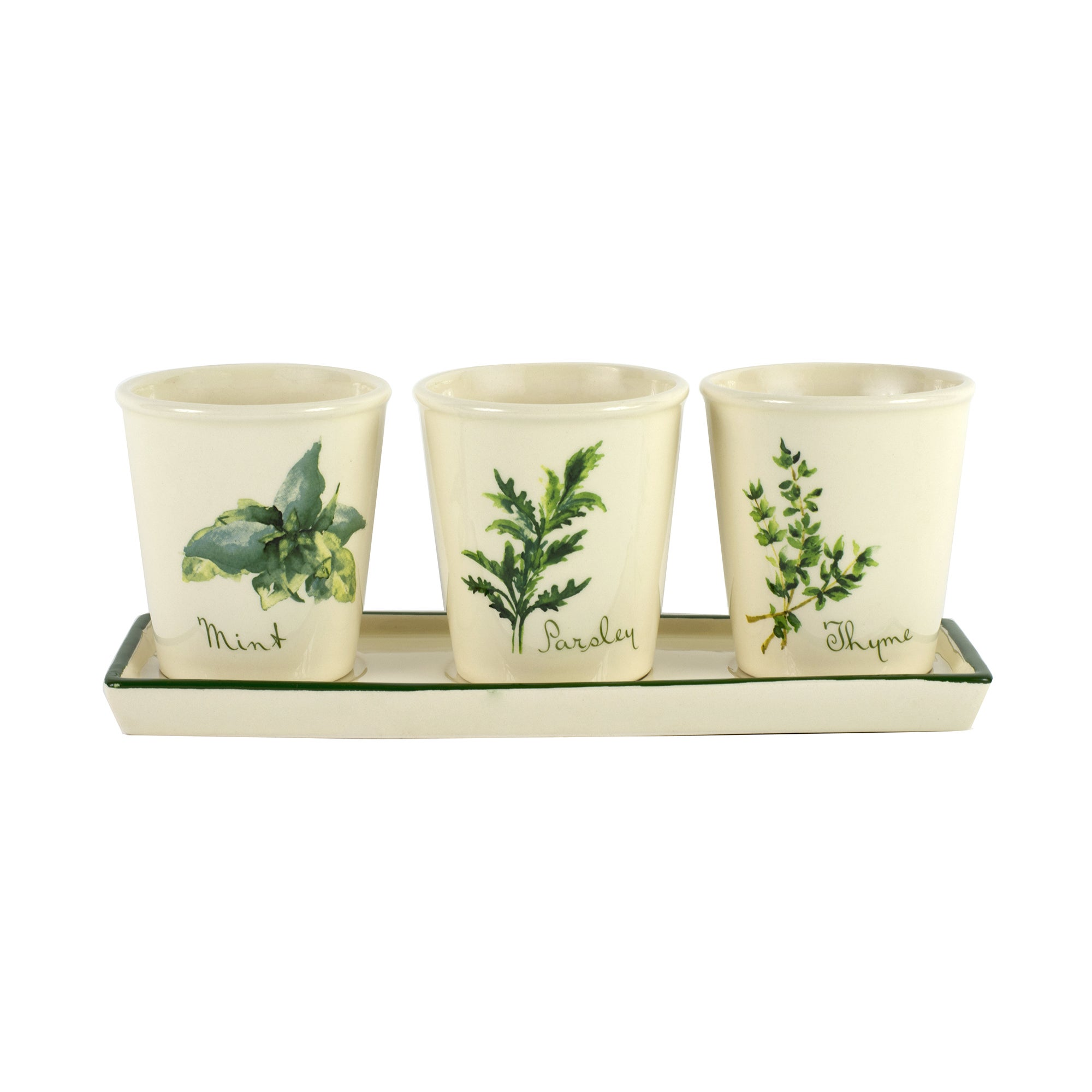 Set of 3 Herb Pots