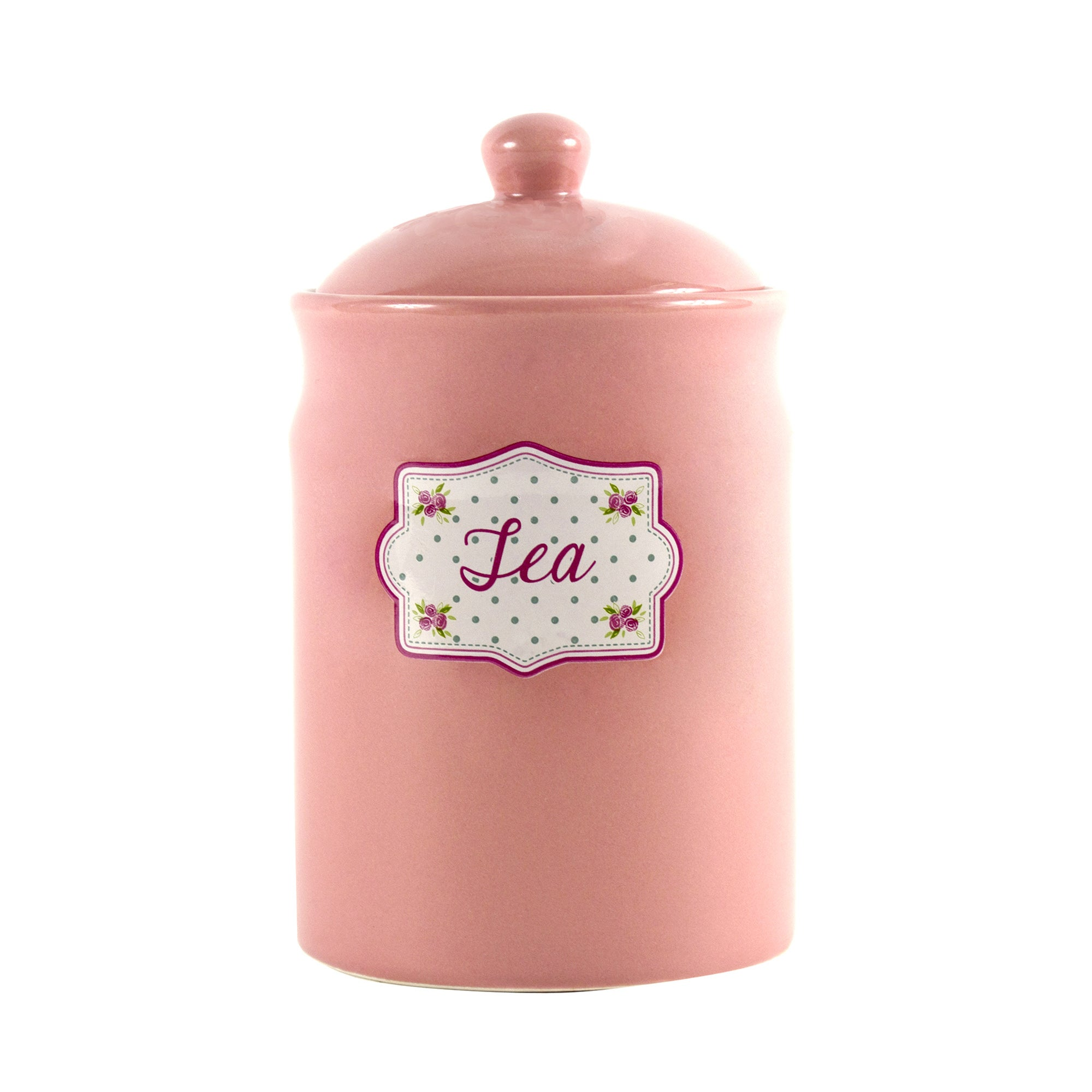 Candy Rose Collection Tea Storage Canister