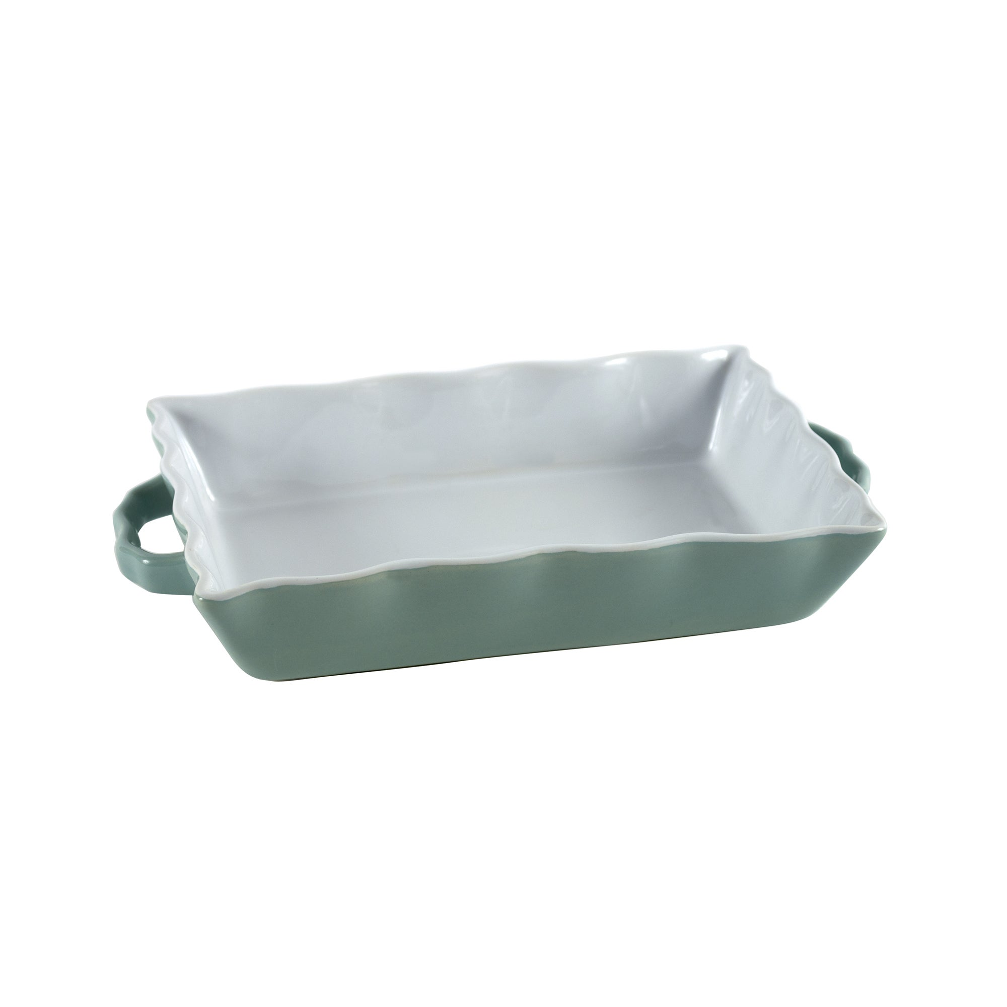 Candy Rose Collection Wavy Rectangular Roaster Tray