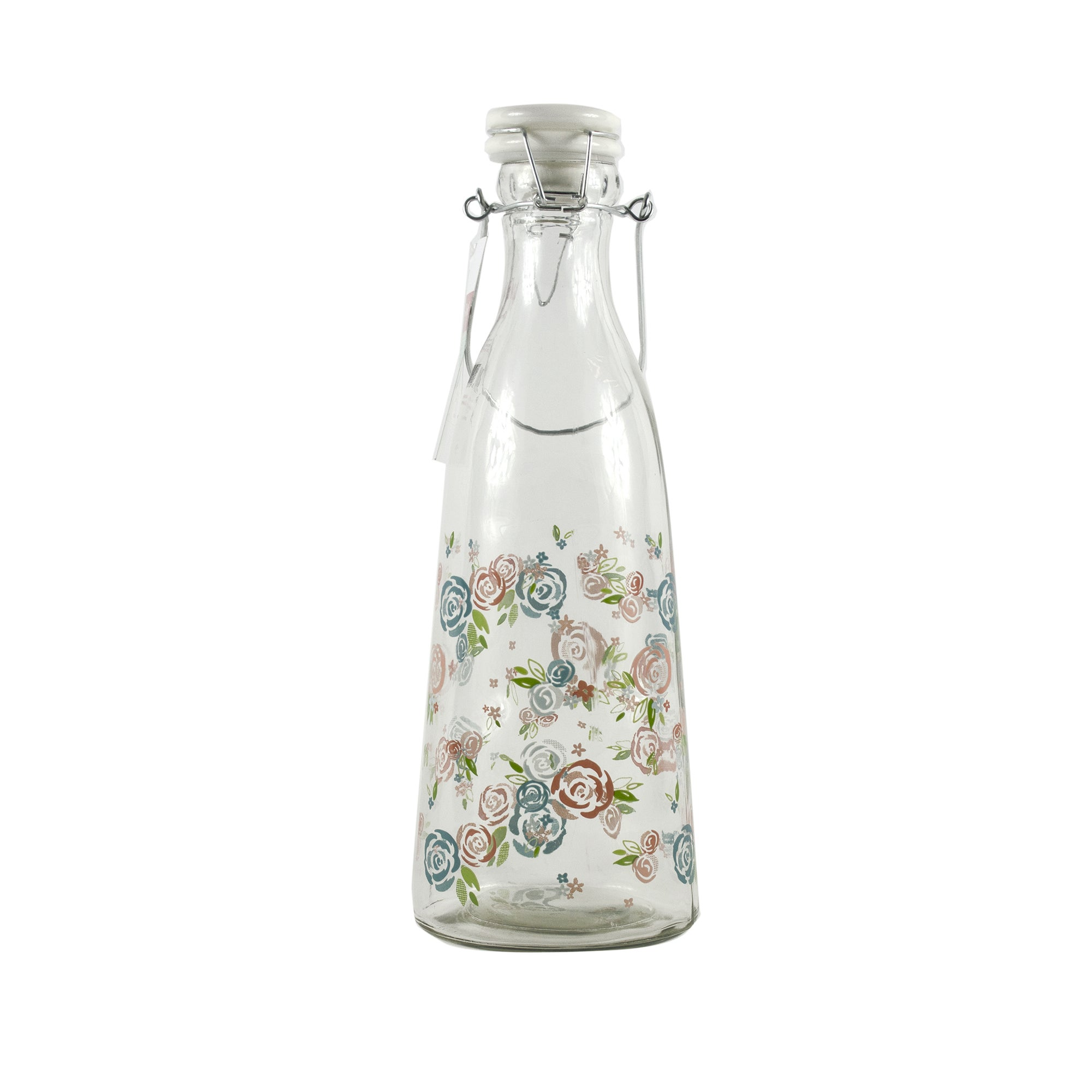 Candy Rose Collection Floral Clip Top Water Bottle