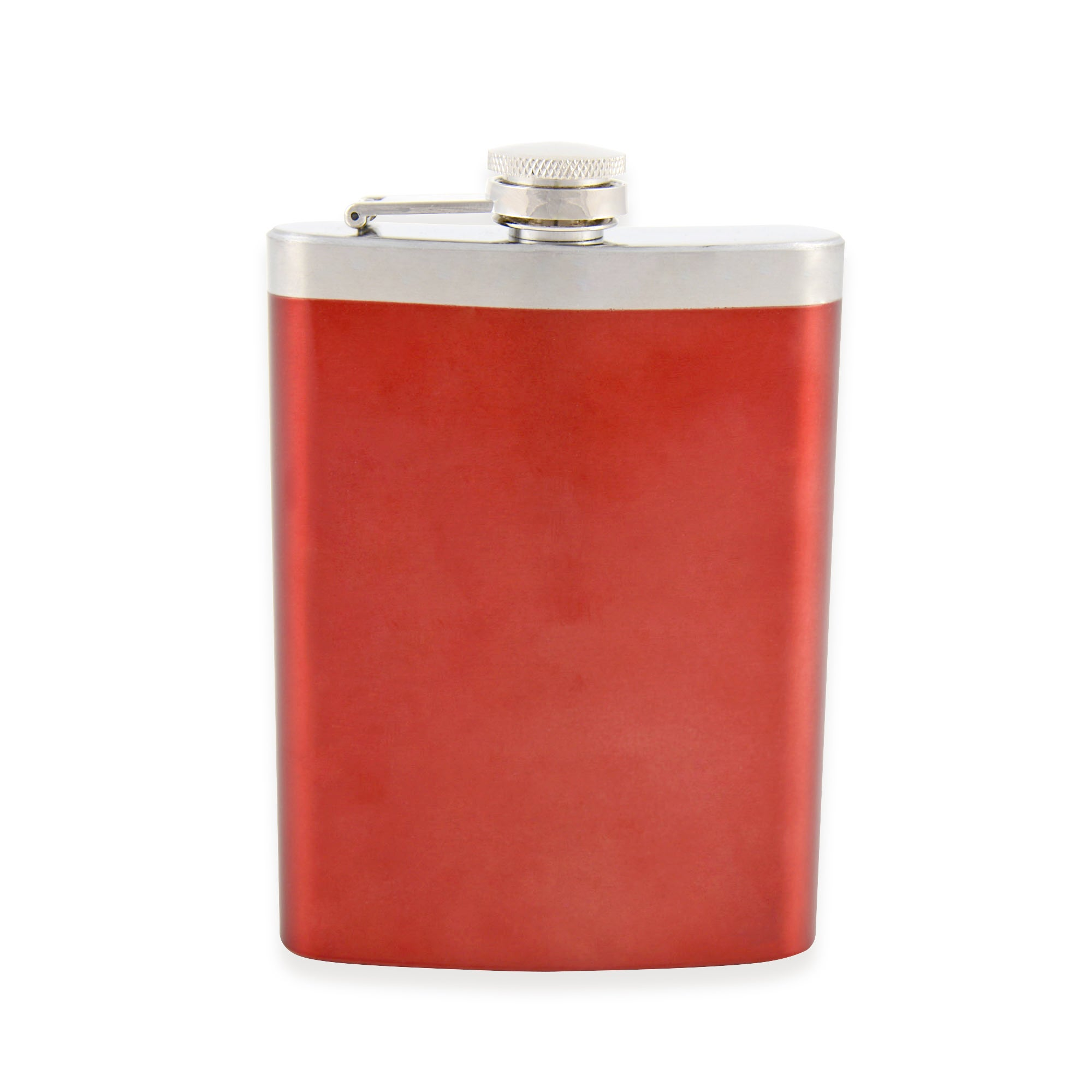 Red 8oz Stainless Steel Flask
