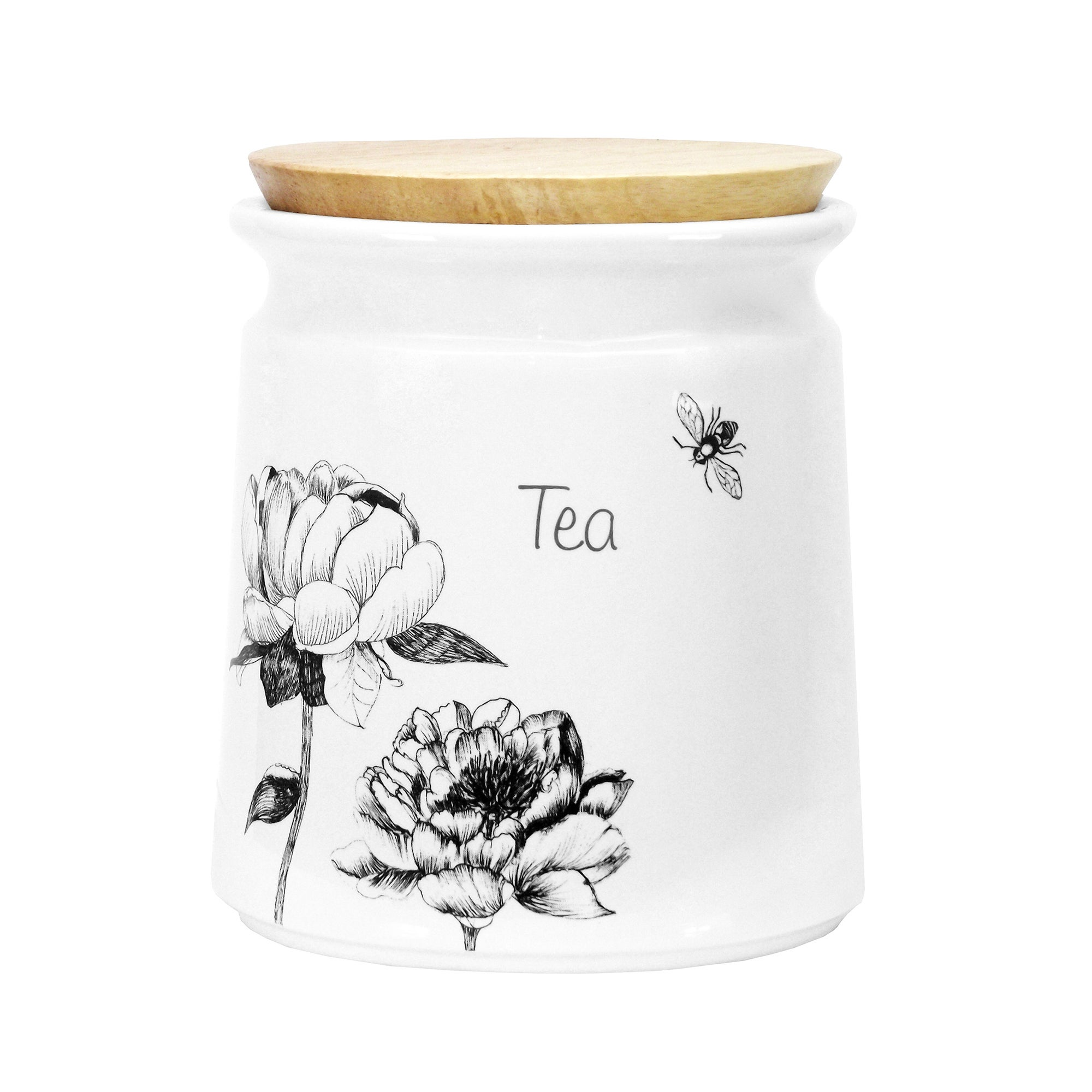 Traditional Rose Collection Tea Canister