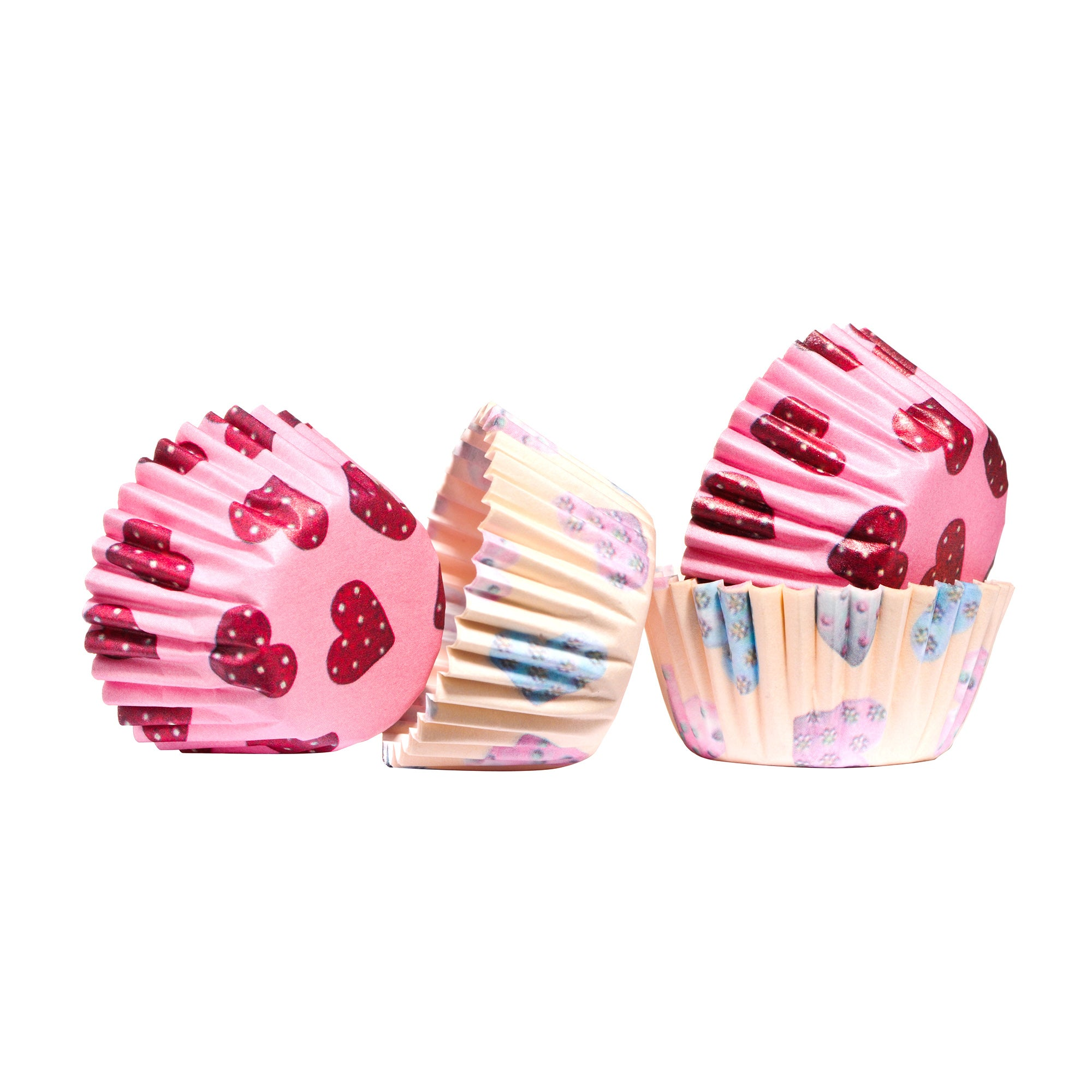 Pack of 100 Mini Hearts Cupcake Cases