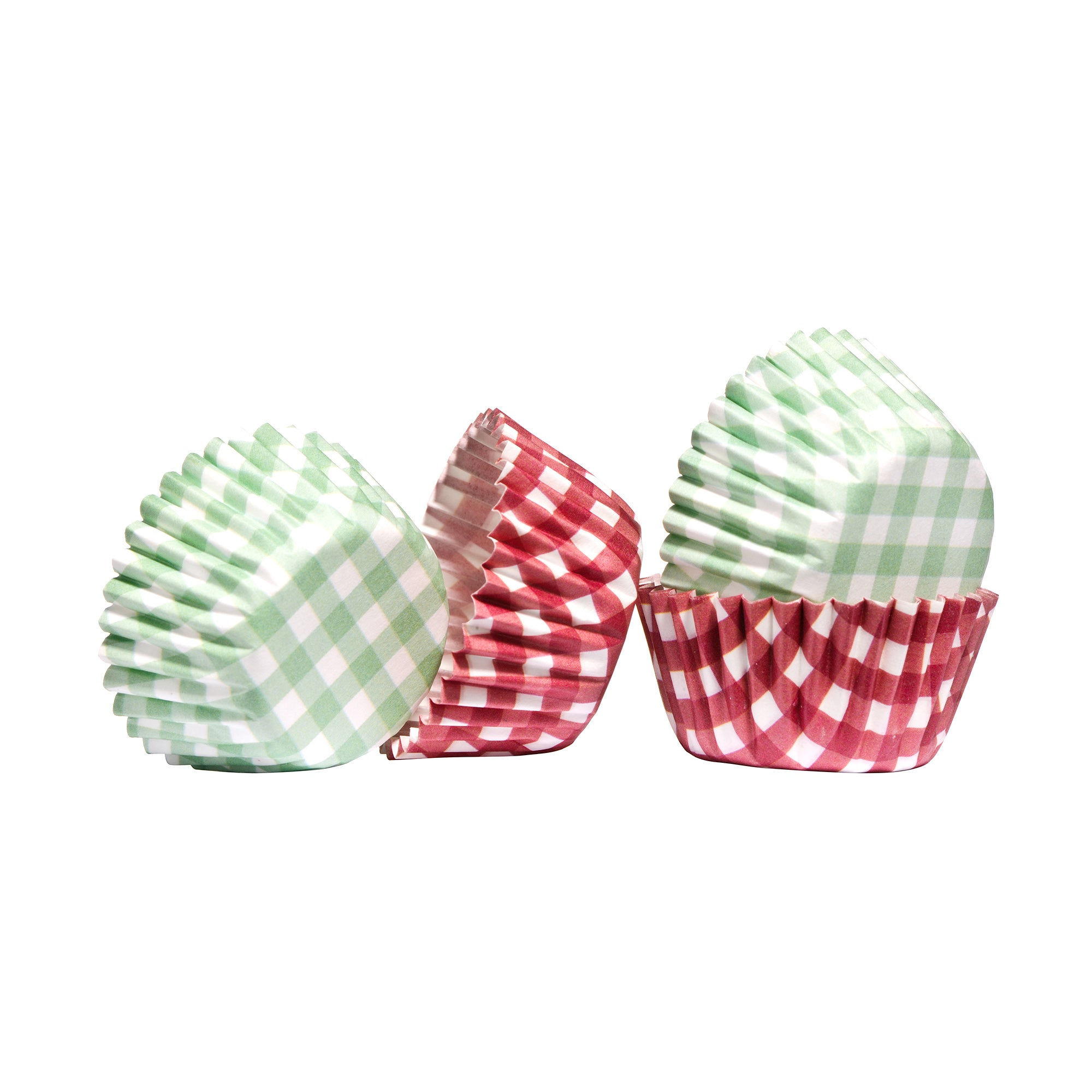Pack of 100 Mini Gingham Cupcake Cases