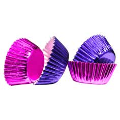 Pack of 100 Mini Plum and Pink Cupcake Cases